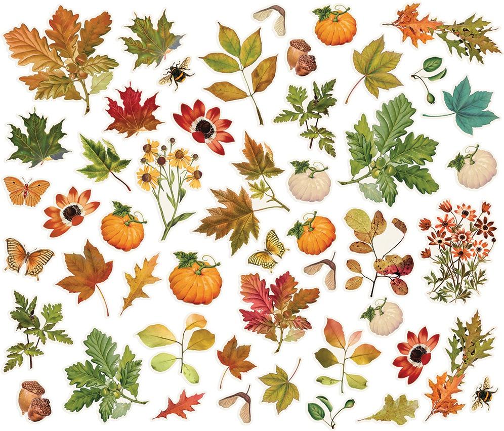 Simple Stories Autumn Splendor - Foliage Bits & Pieces, 49/pkg