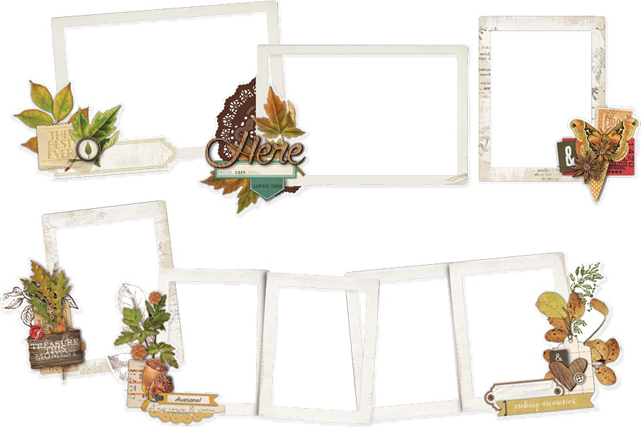 Autumn Splendor Layered Frames Die-Cuts 6/Pkg-