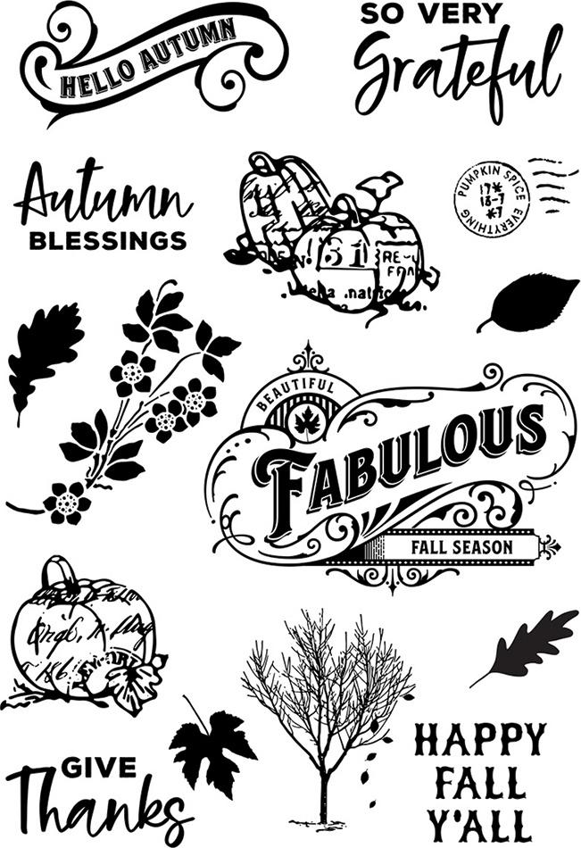 Autumn Splendor Photopolymer Clear Stamps-