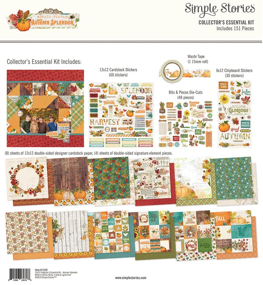 Simple Stories Collector's Essential Kit 12X12-Autumn Splendor