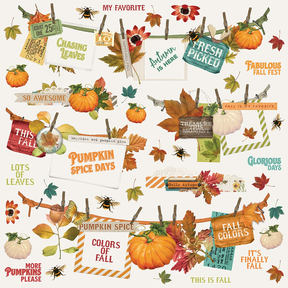 Autumn Splendor Cardstock Stickers 12X12-Banners