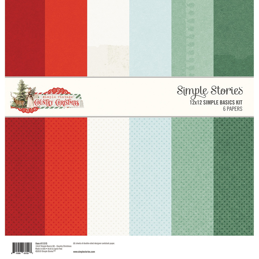 Simple Stories Country Christmas - 12x12 Simple Basics Kit