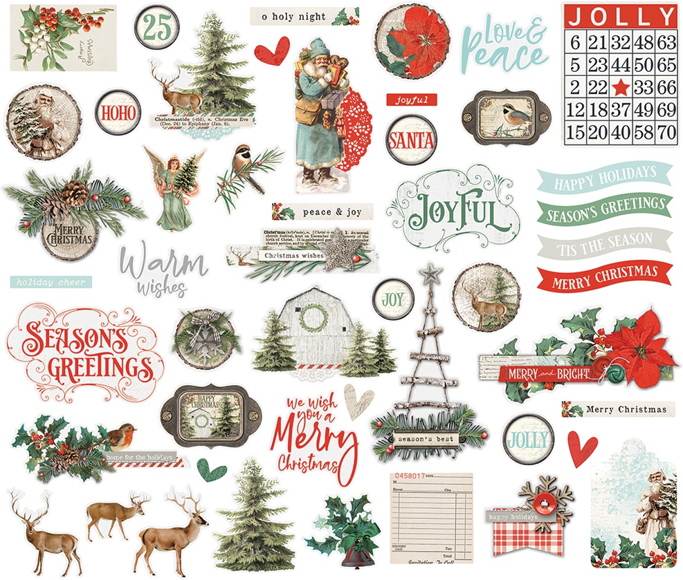 Simple Stories Simple Vintage Country Christmas - Bits & Pieces