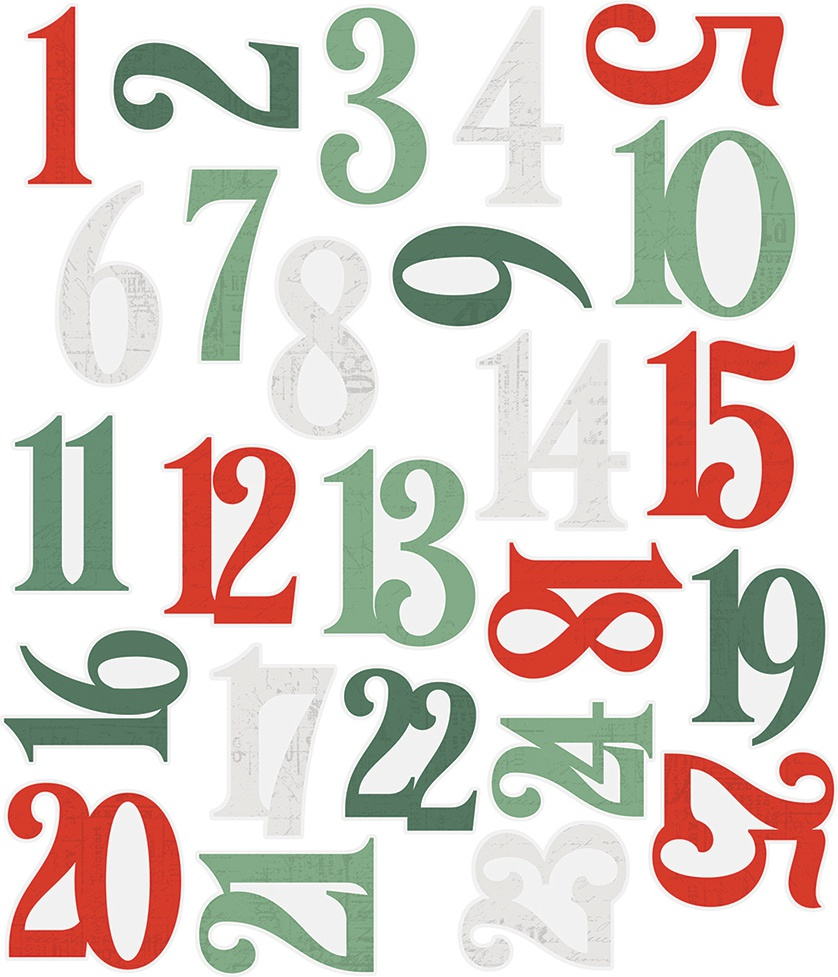 Simple Stories Simple Vintage Country Christmas - Number Pocket Pieces