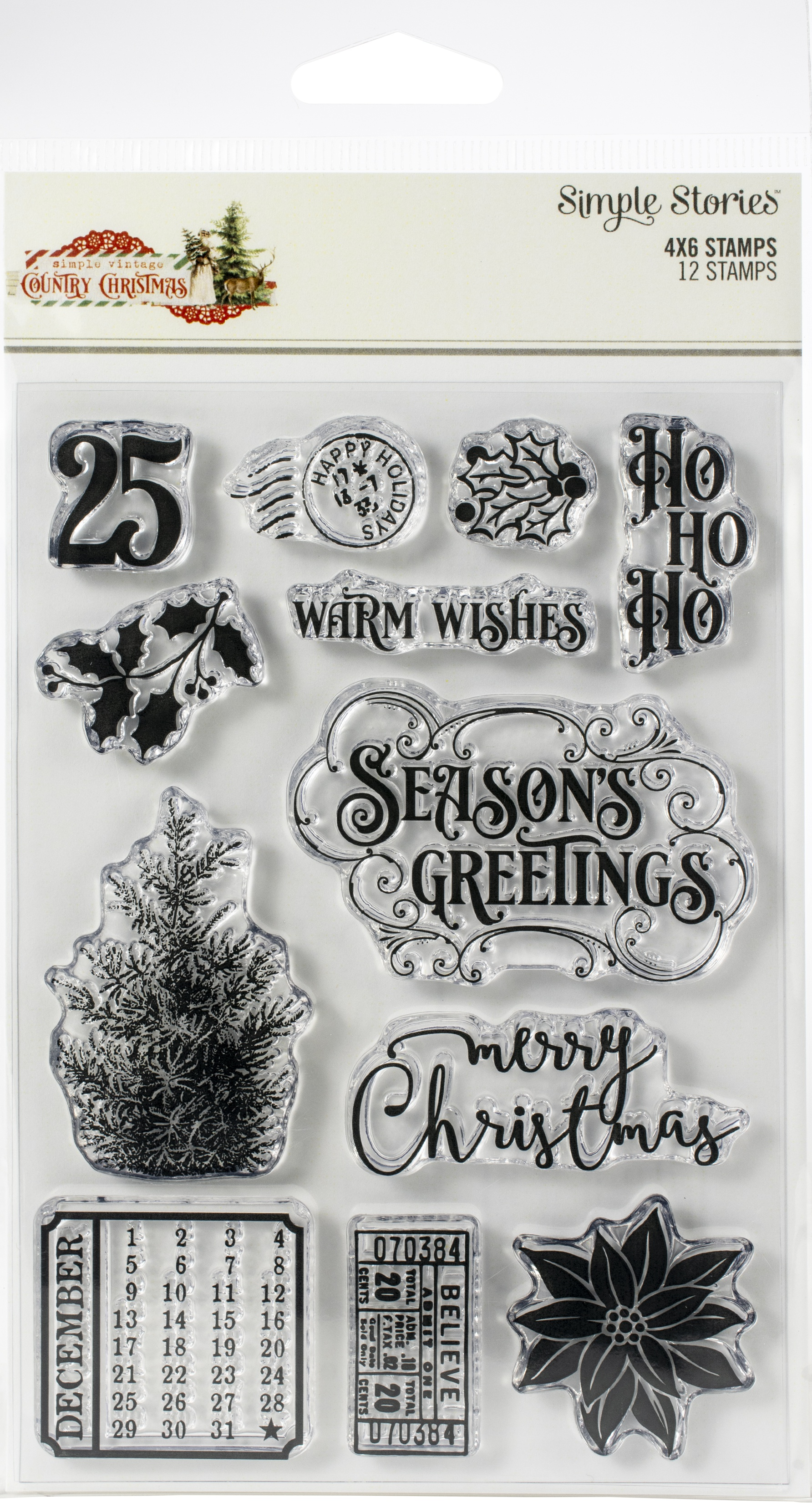 Country Christmas Clear Stamps