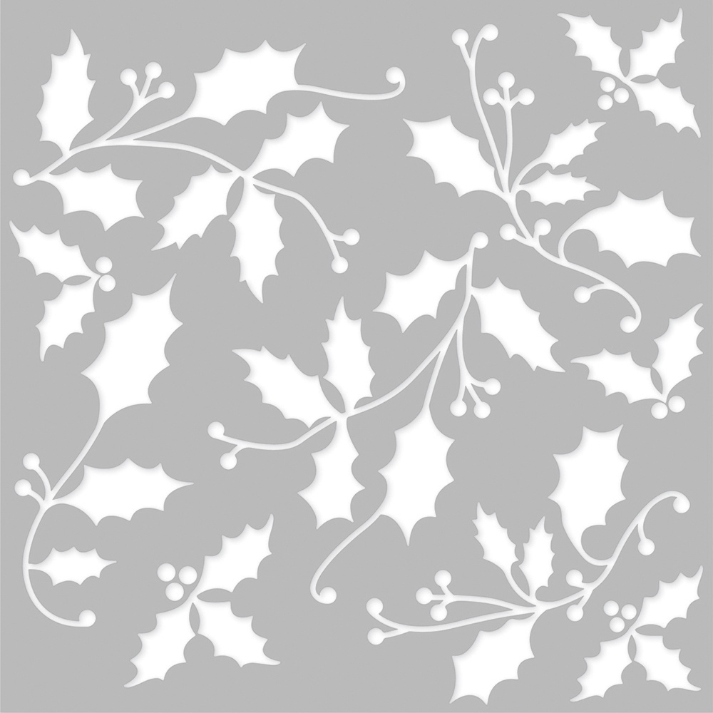 Simple Stories Country Christmas Stencil 6X6-