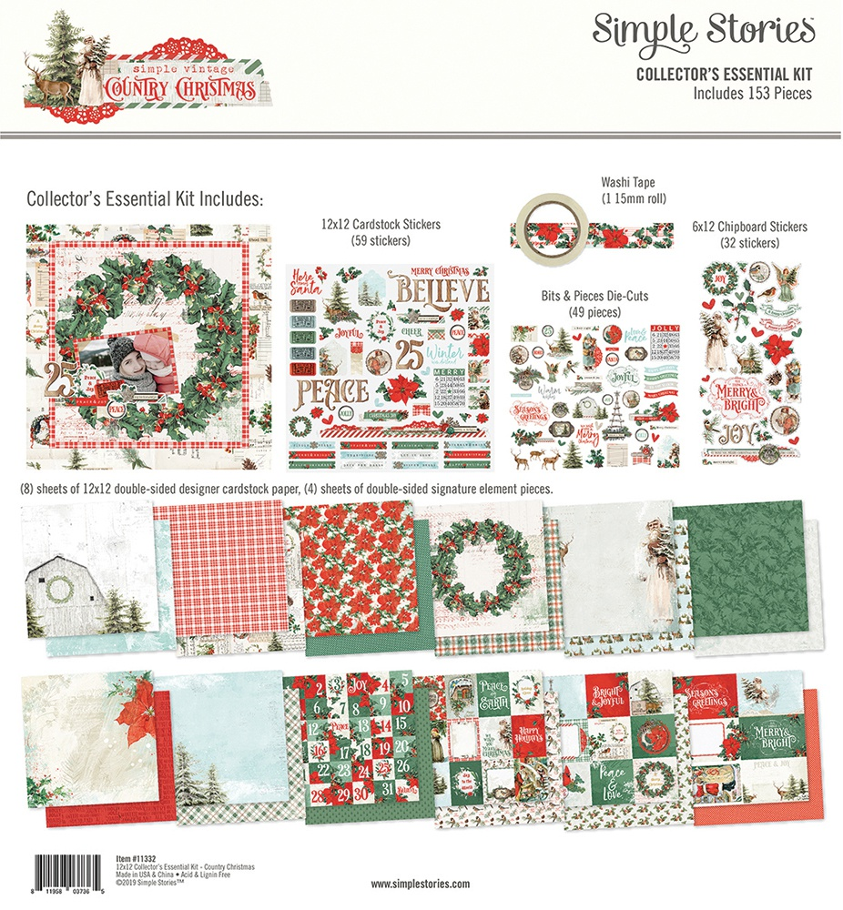 Simple Stories Simple Vintage Country Christmas - Collector's Essentials Kit