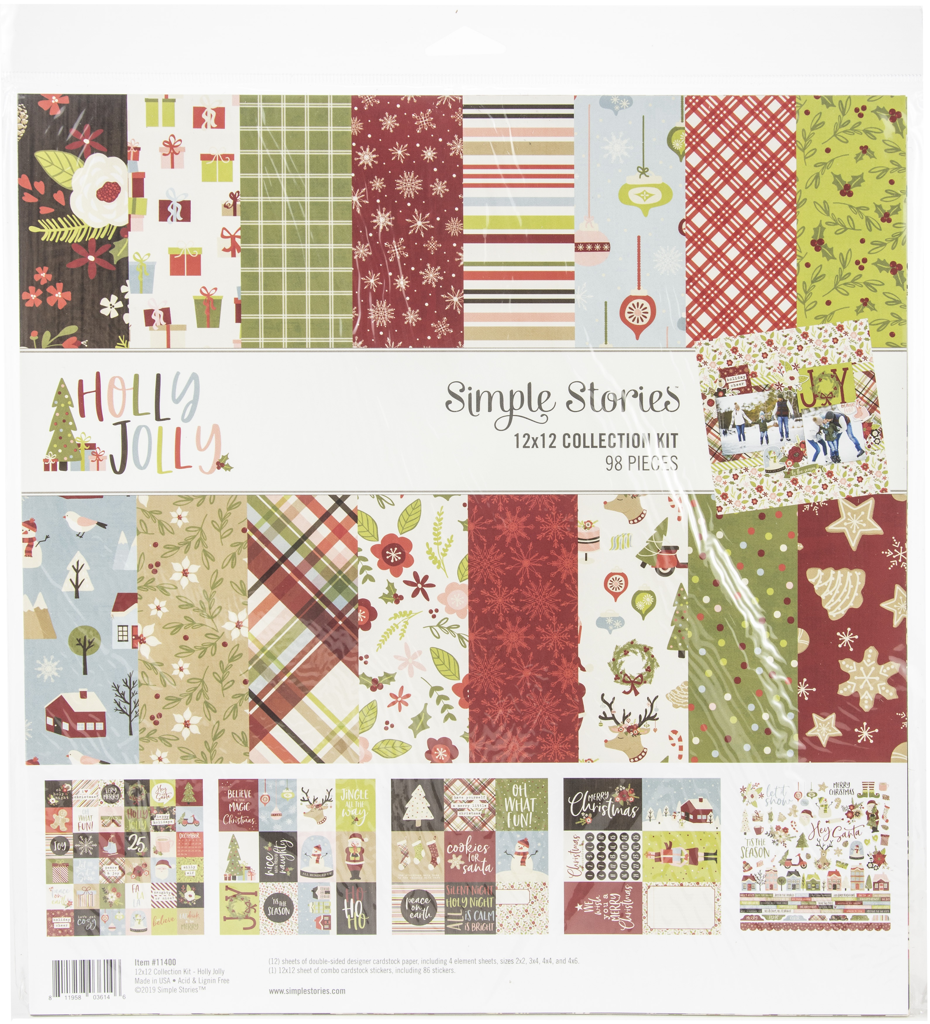 Simple Stories Collection Kit 12X12-Holly Jolly