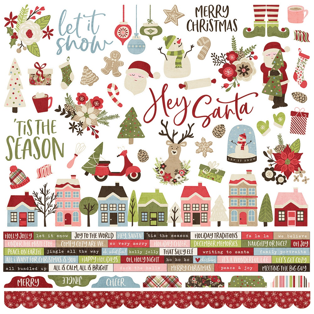 Simple Stories Holly Jolly - 12x12 Combo Cardstock Stickers