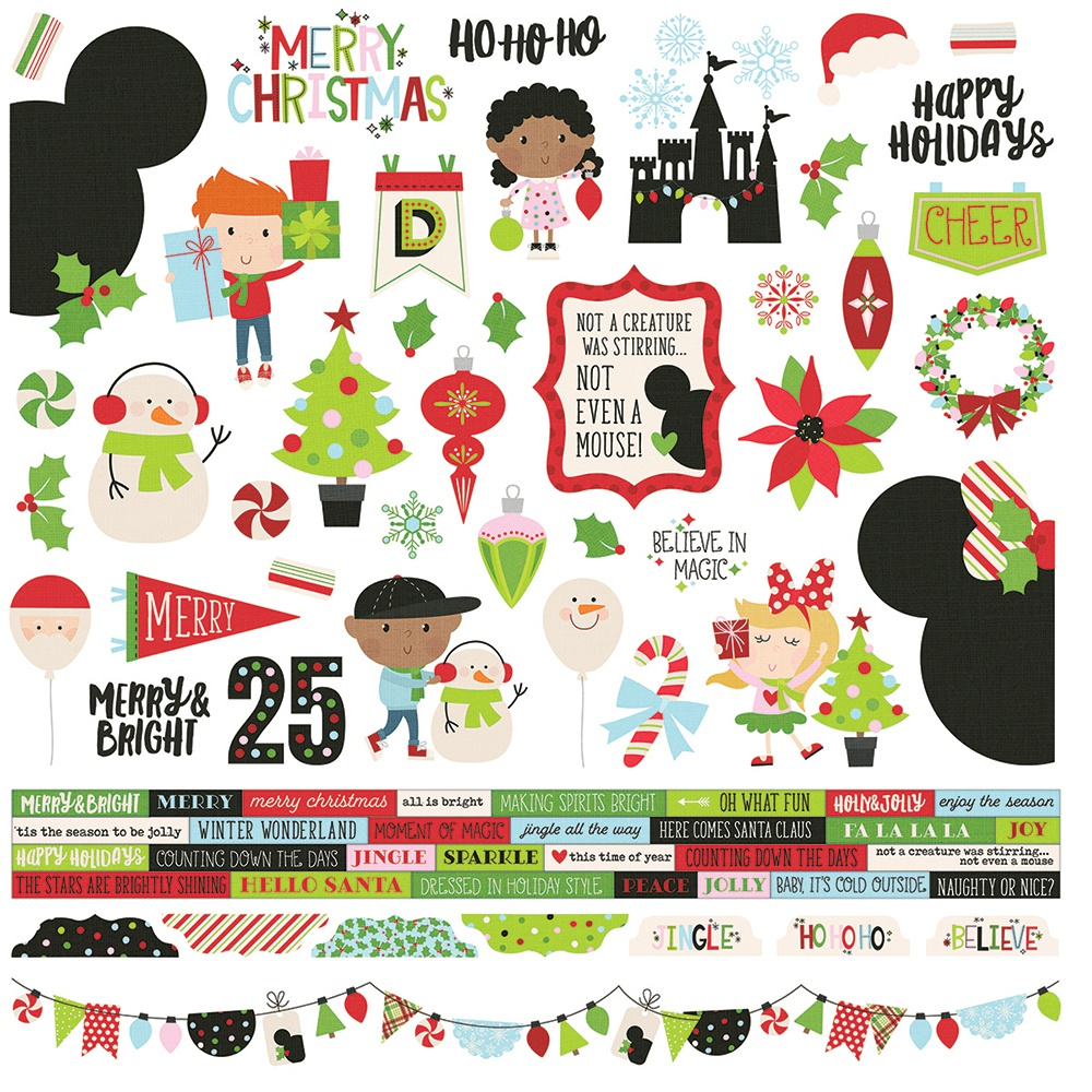 Simple Stories Say Cheese Christmas - Combo Cardstock Stickers