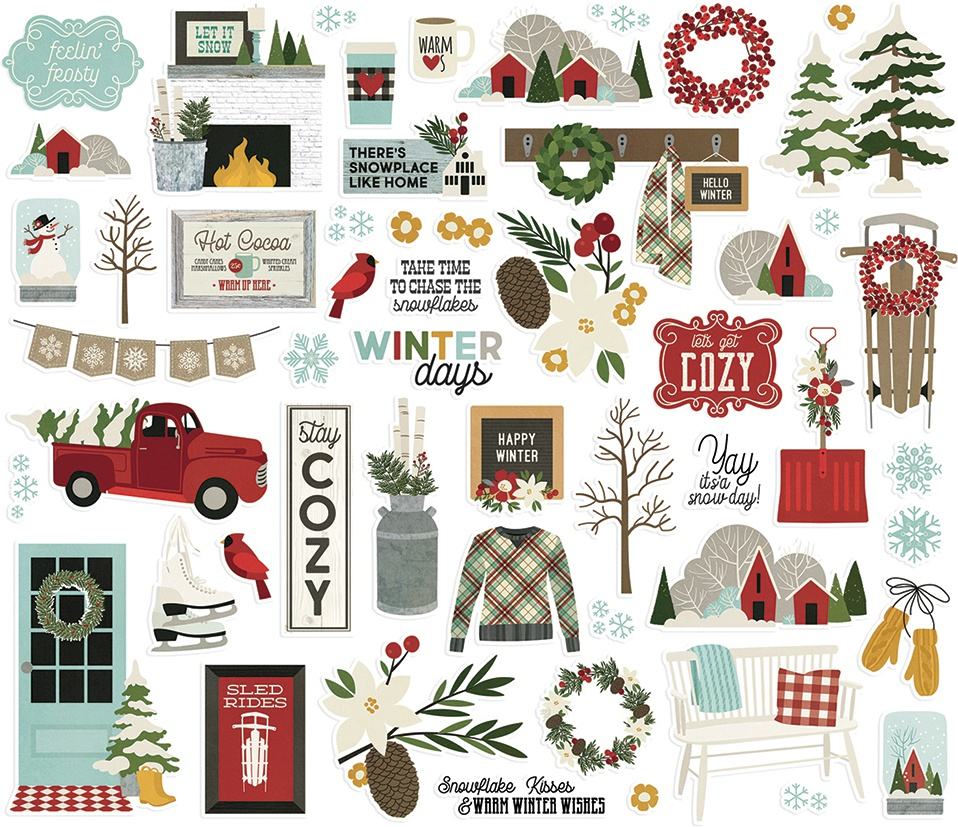 Winter Farmhouse Bits & Pieces Die-Cuts
