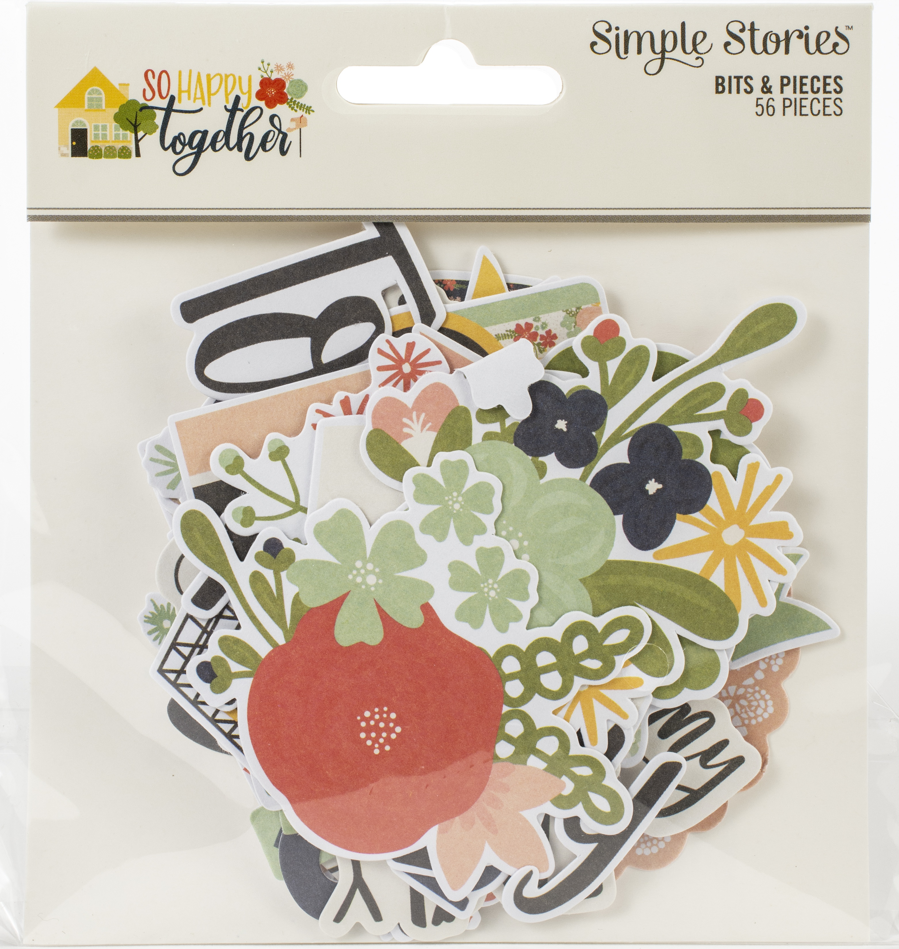 So Happy Together Bits & Pieces Die-Cuts 56/Pkg-
