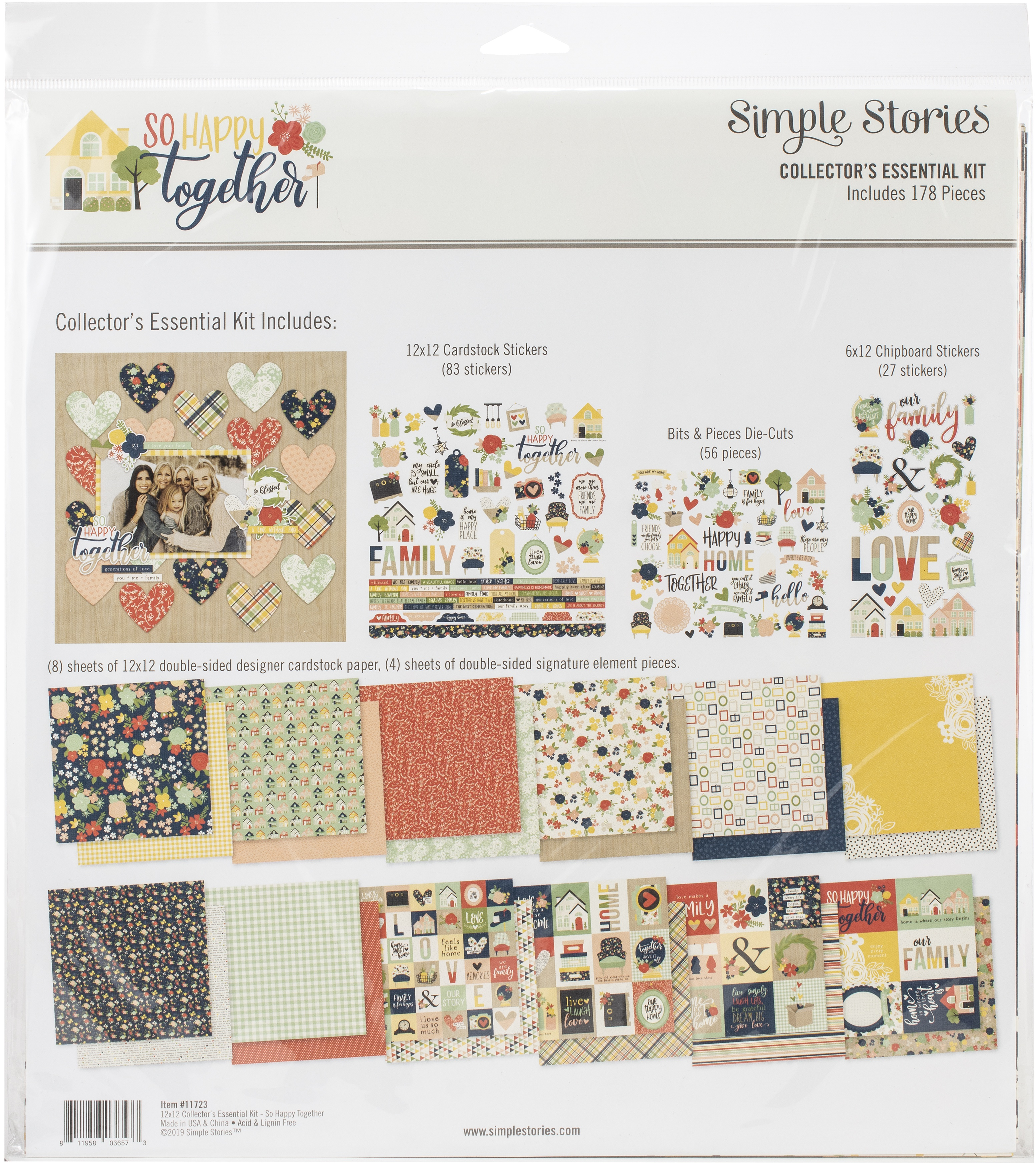 Simple Stories Collector's Essential Kit 12X12-So Happy Together