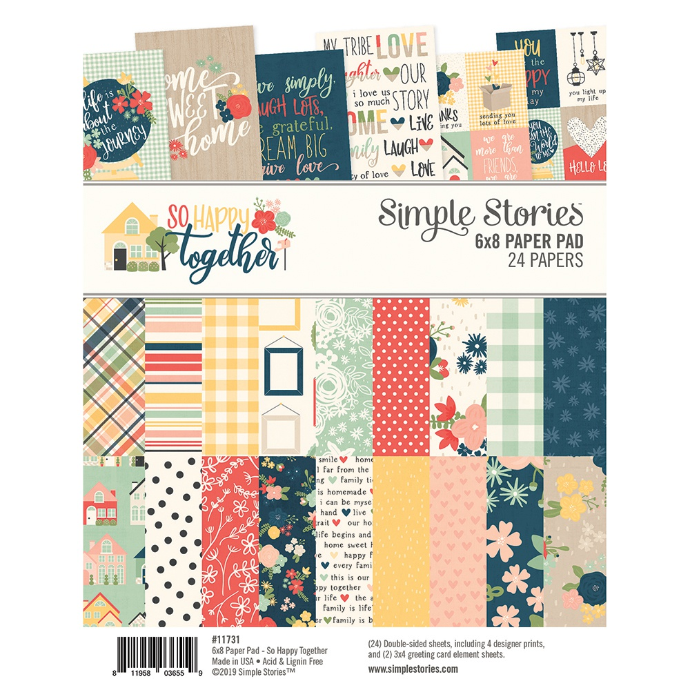 Simple Stories Double-Sided Paper Pad 6X8 24/Pkg-So Happy Together, 8 Designs/...