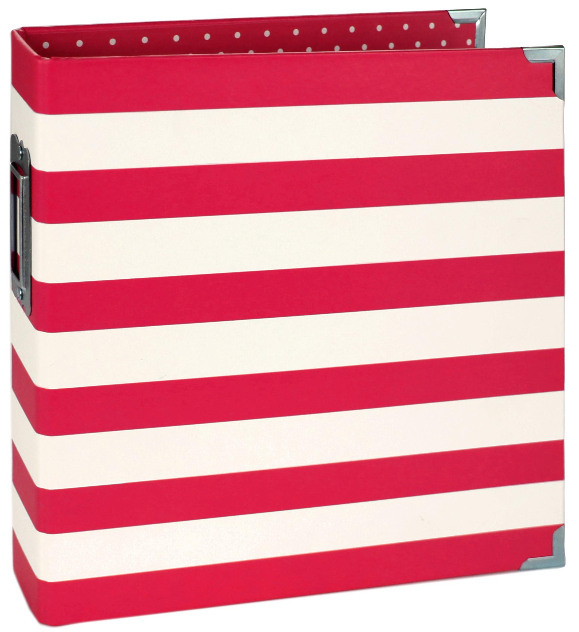 Simple Stories Sn@p! Designer Binder 6X8-Red Stripe