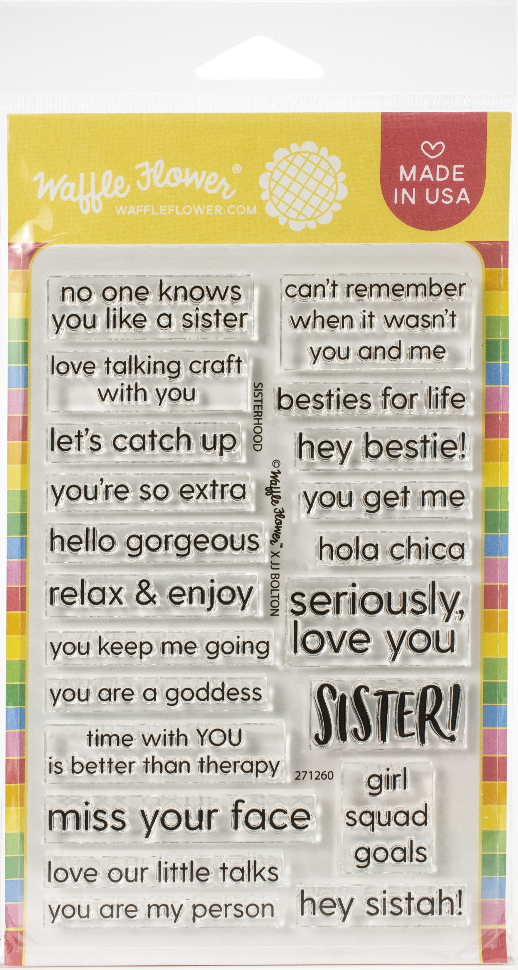 Waffle Flower Crafts Clear Stamps 4X6-Sisterhood