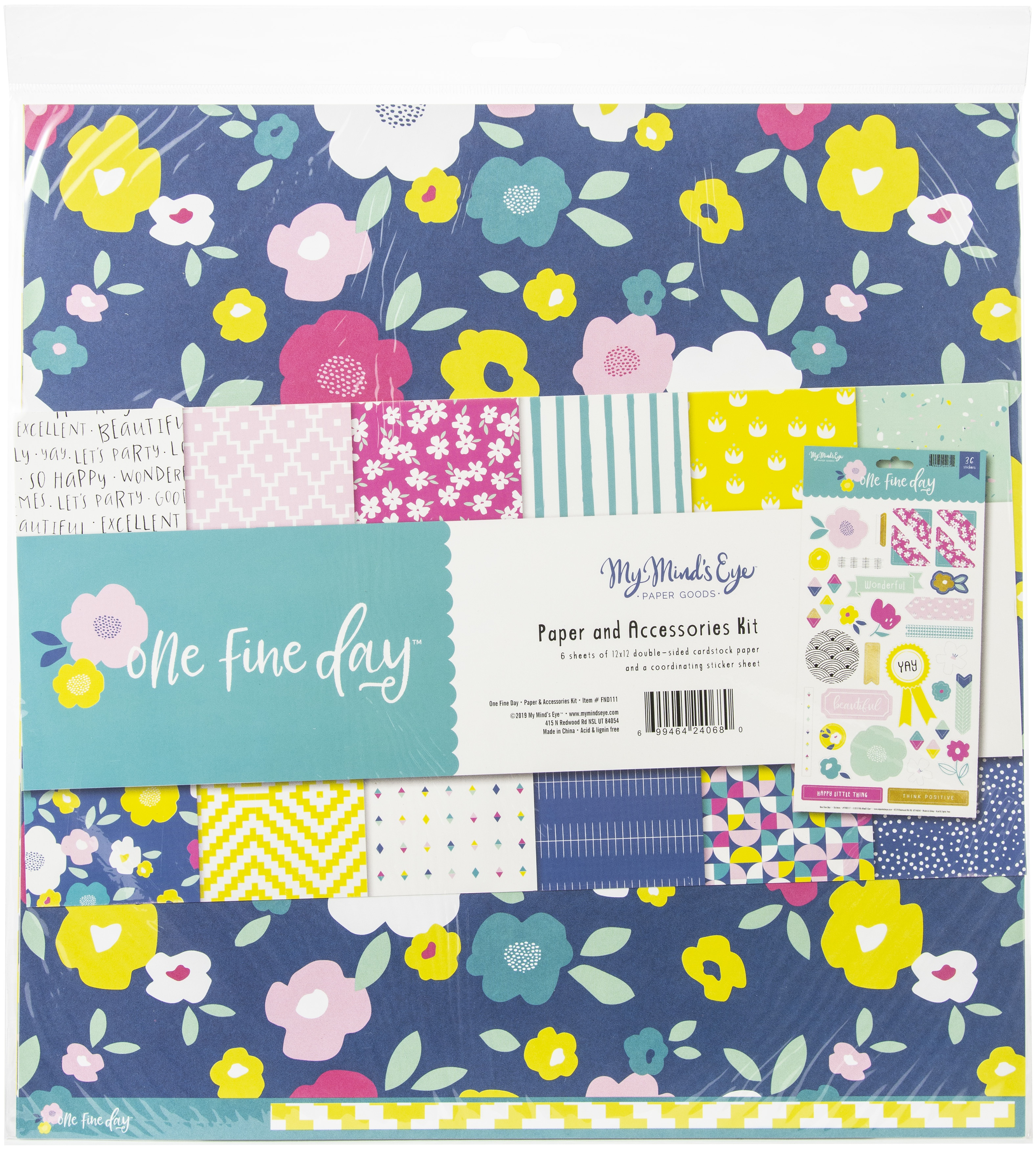 ^My Mind's Eye One Fine Day - 12x12 Paper & Accessories Kit