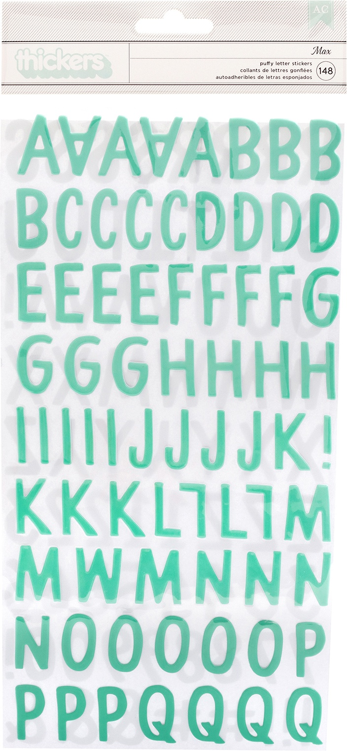 Thickers - Peek-A-Boo You - Max Puffy Letter Stickers