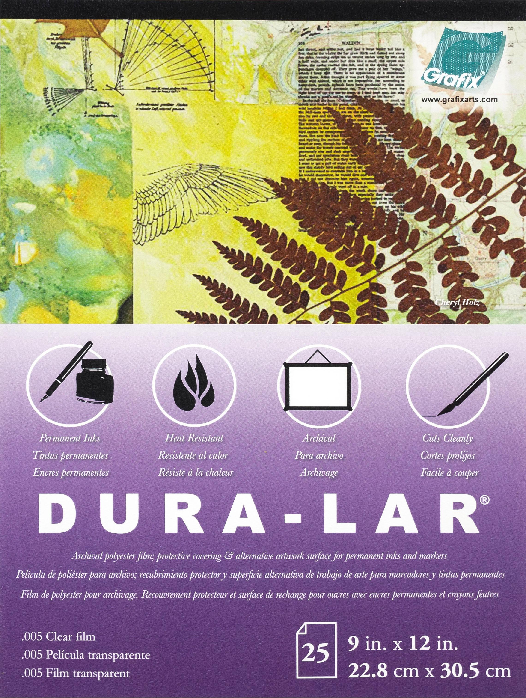 Dura-Lar Clear .005 Pad 9X12-25 Sheets