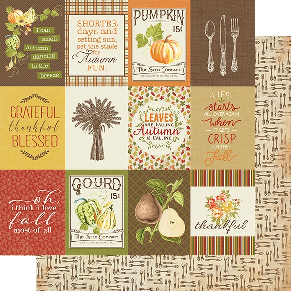 Gracious Double-Sided Cardstock 12X12-#8 Sentiments & Icons Cut-Aparts