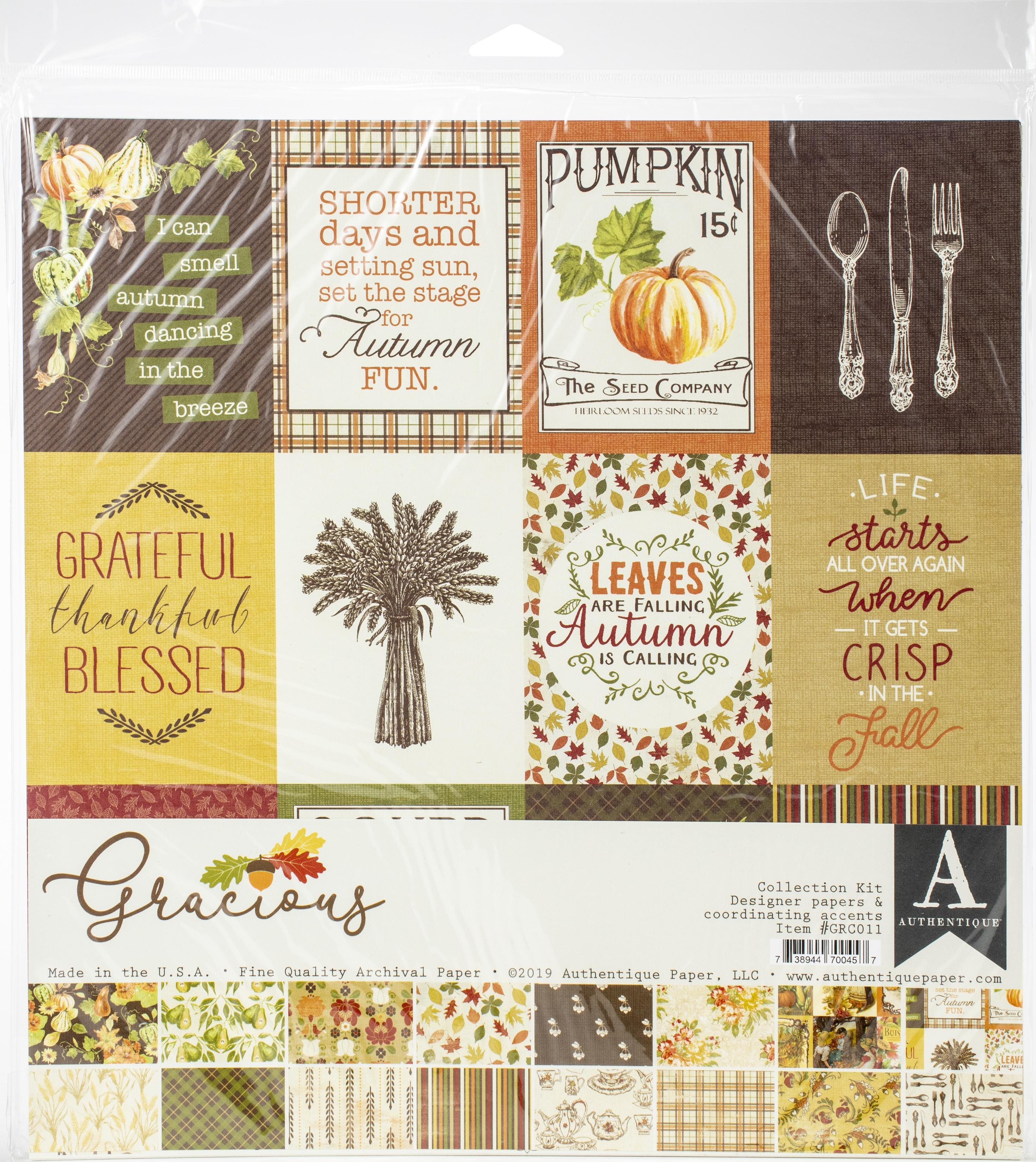 Authentique Collection Kit 12X12-Gracious
