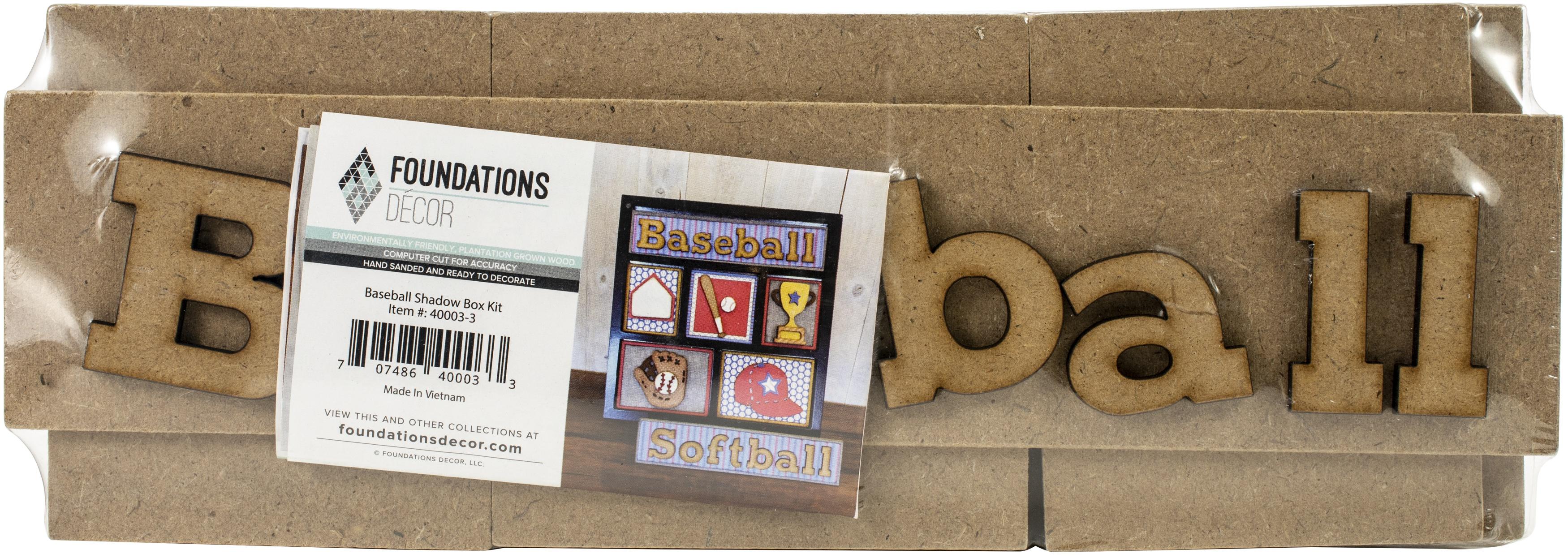 Baseball Shadow Box kit