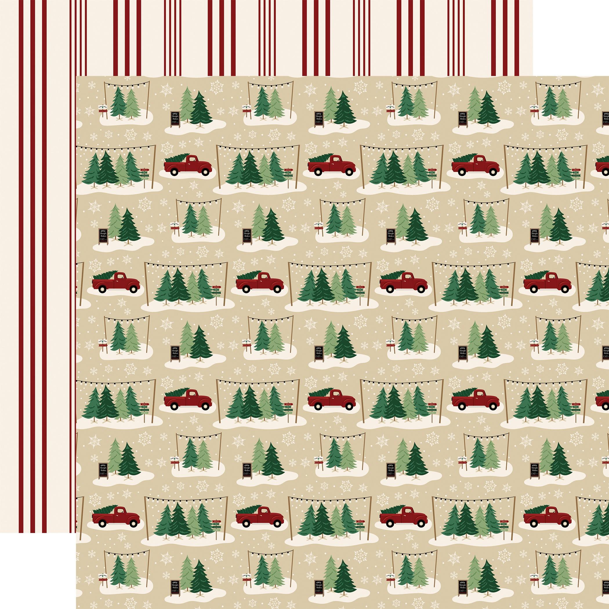 A Cozy Christmas Tree Farm Paper