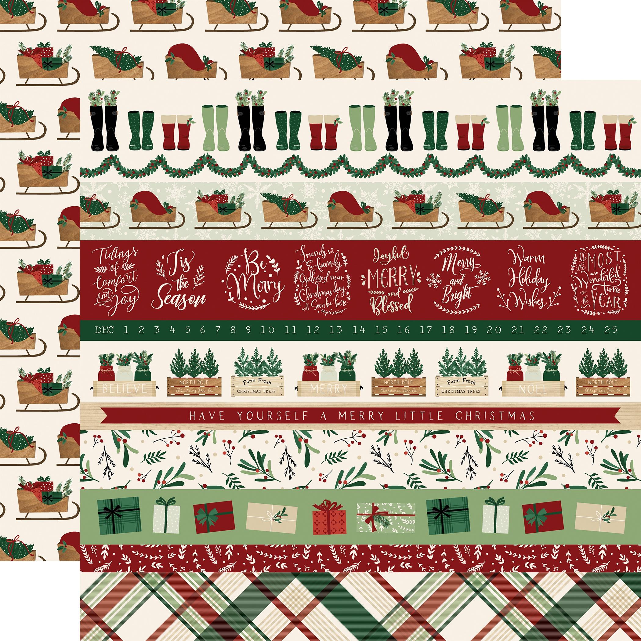 A Cozy Christmas Border Strips