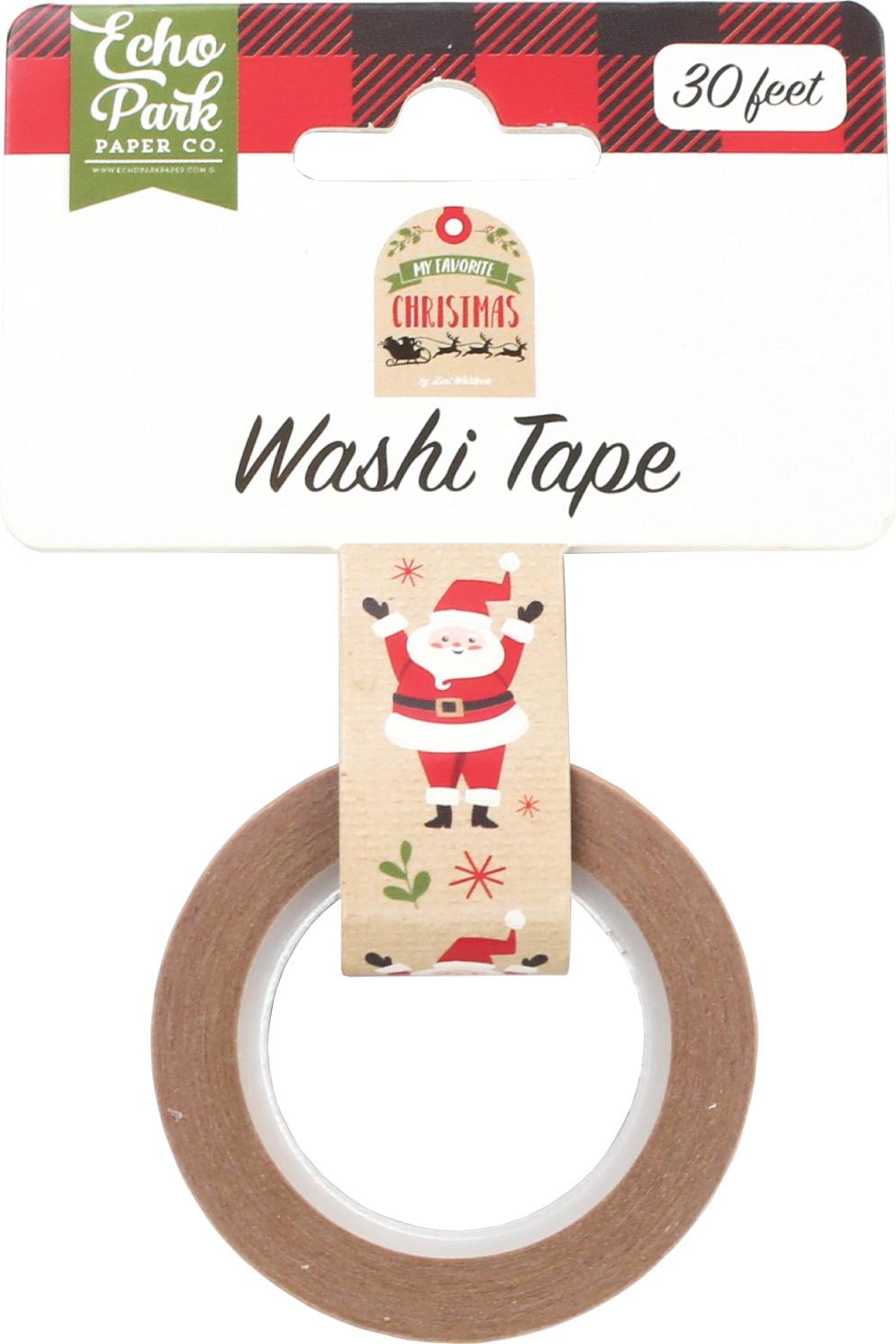 Echo Park My Favorite Christmas Decorative Tape 30'-Celebrate Santa