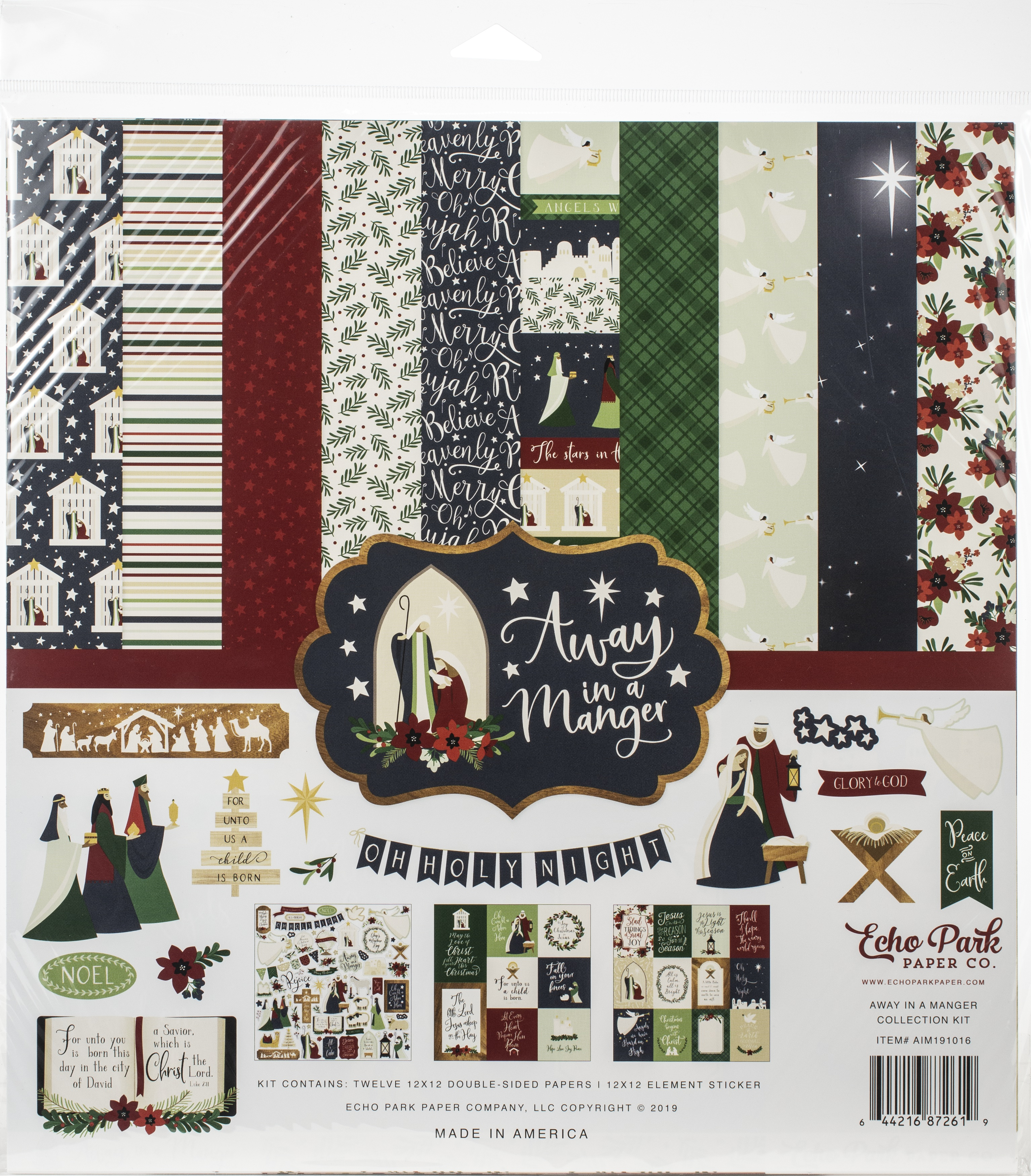 Echo Park Collection Kit 12X12-Away In A Manger