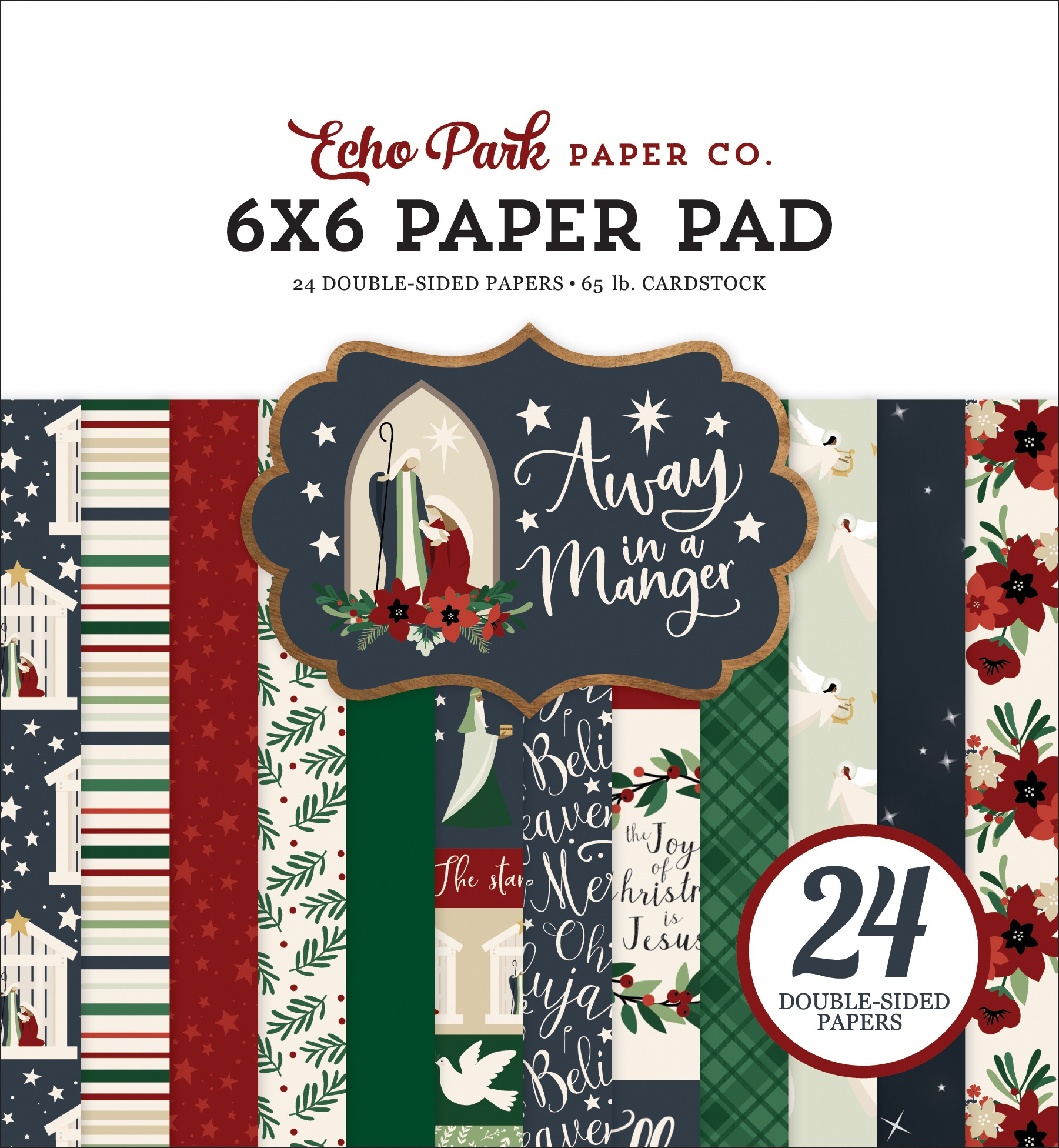 Echo Park Double-Sided Paper Pad 6X6 24/Pkg-Away In A Manger