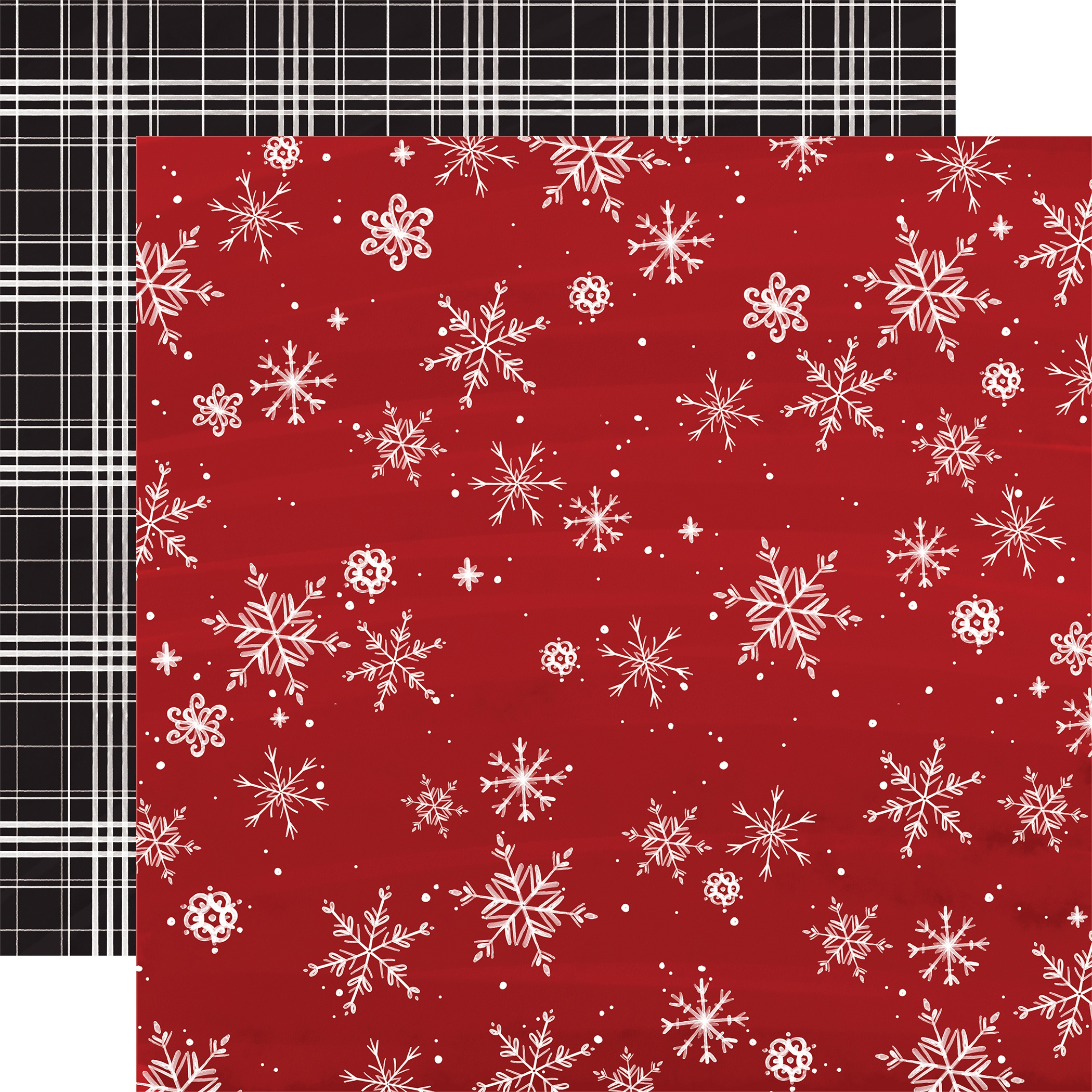 Christmas Market Double-Sided Cardstock 12X12-Snowflakes