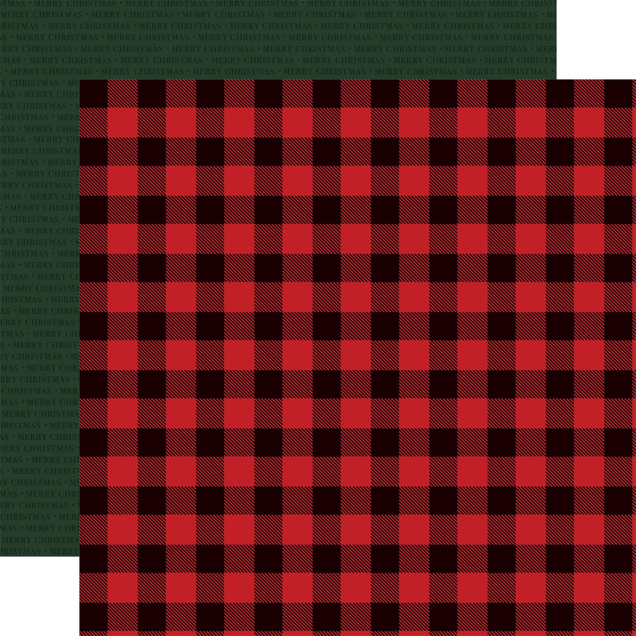 Christmas Market Double-Sided Cardstock 12X12-Buffalo Plaid