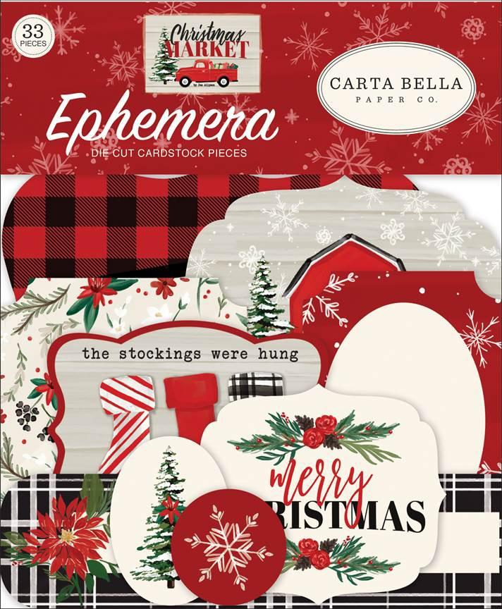 Carta Bella Cardstock Ephemera 33/Pkg-Icons, Christmas Market