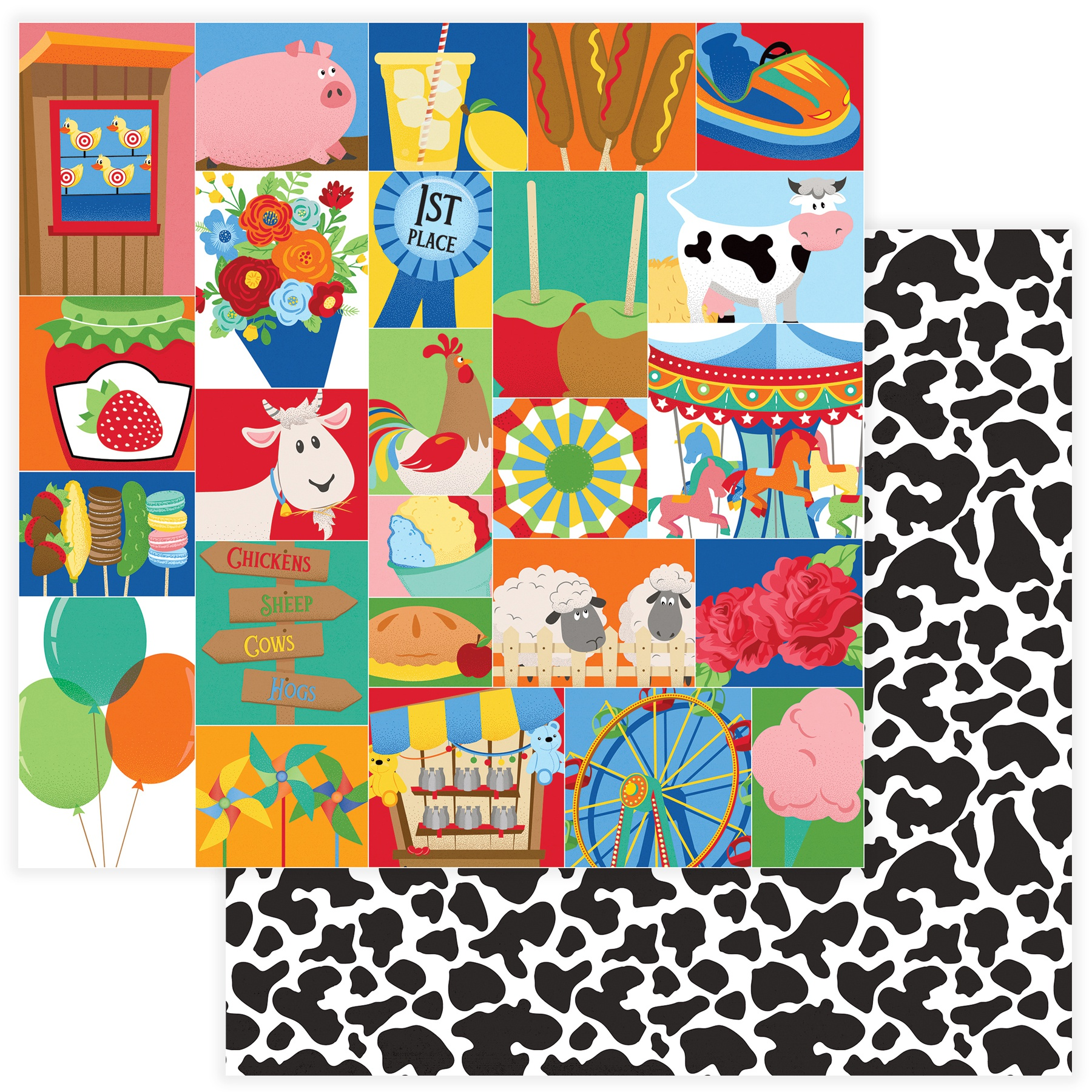 State Fair Double-Sided Cardstock 12X12- Midway