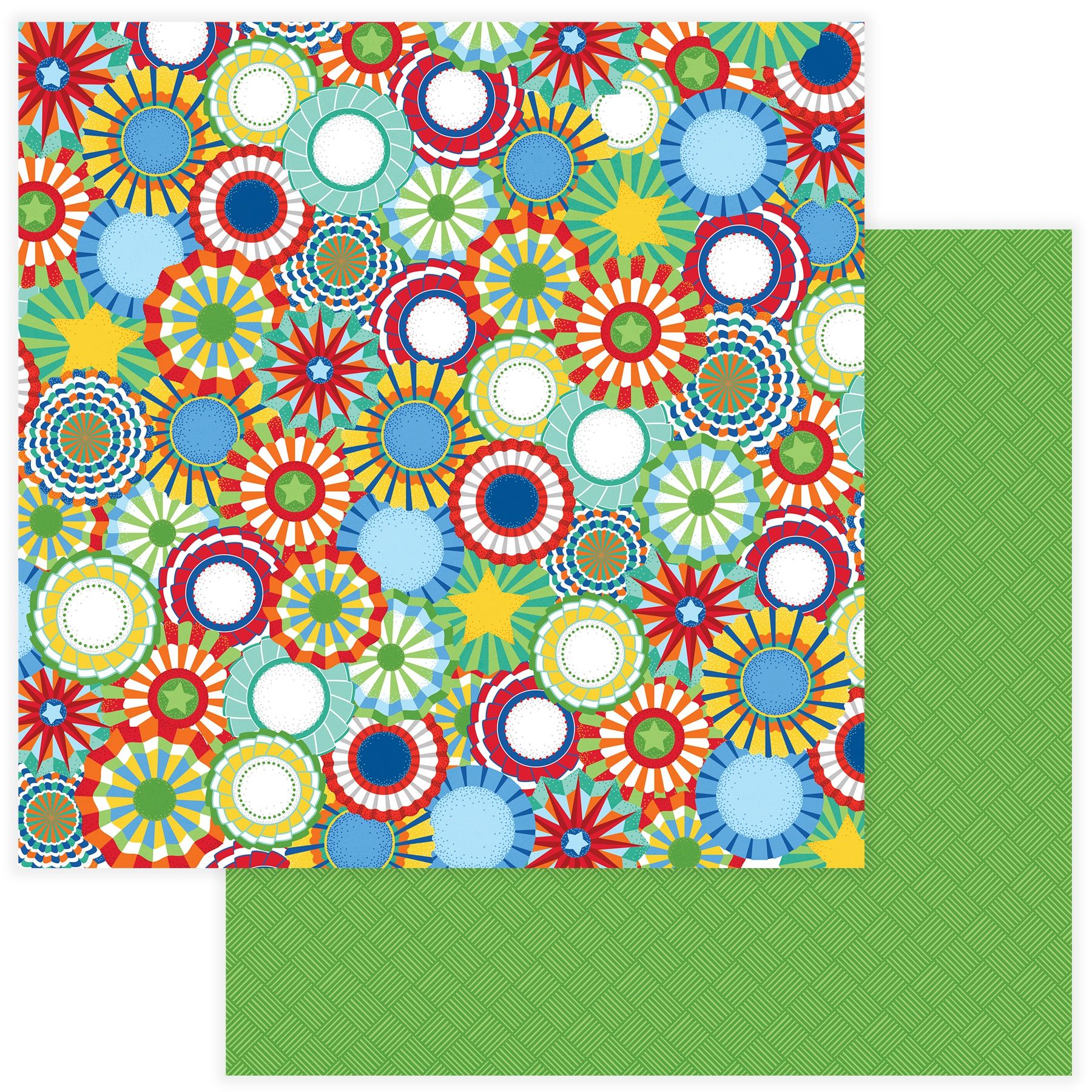 State Fair Double-Sided Cardstock 12X12- Rosettes