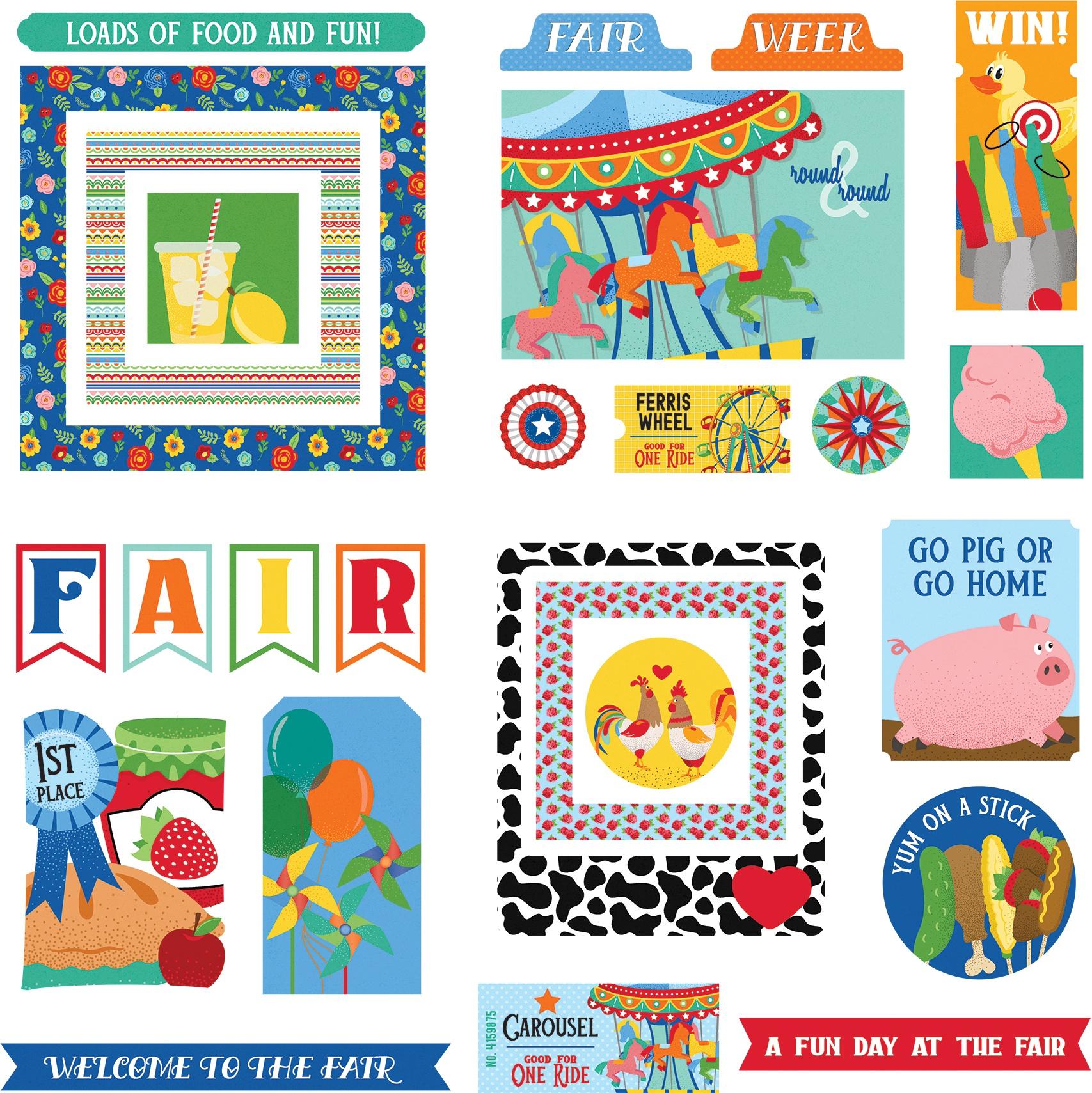 State Fair Ephemera Cardstock  Die Cuts