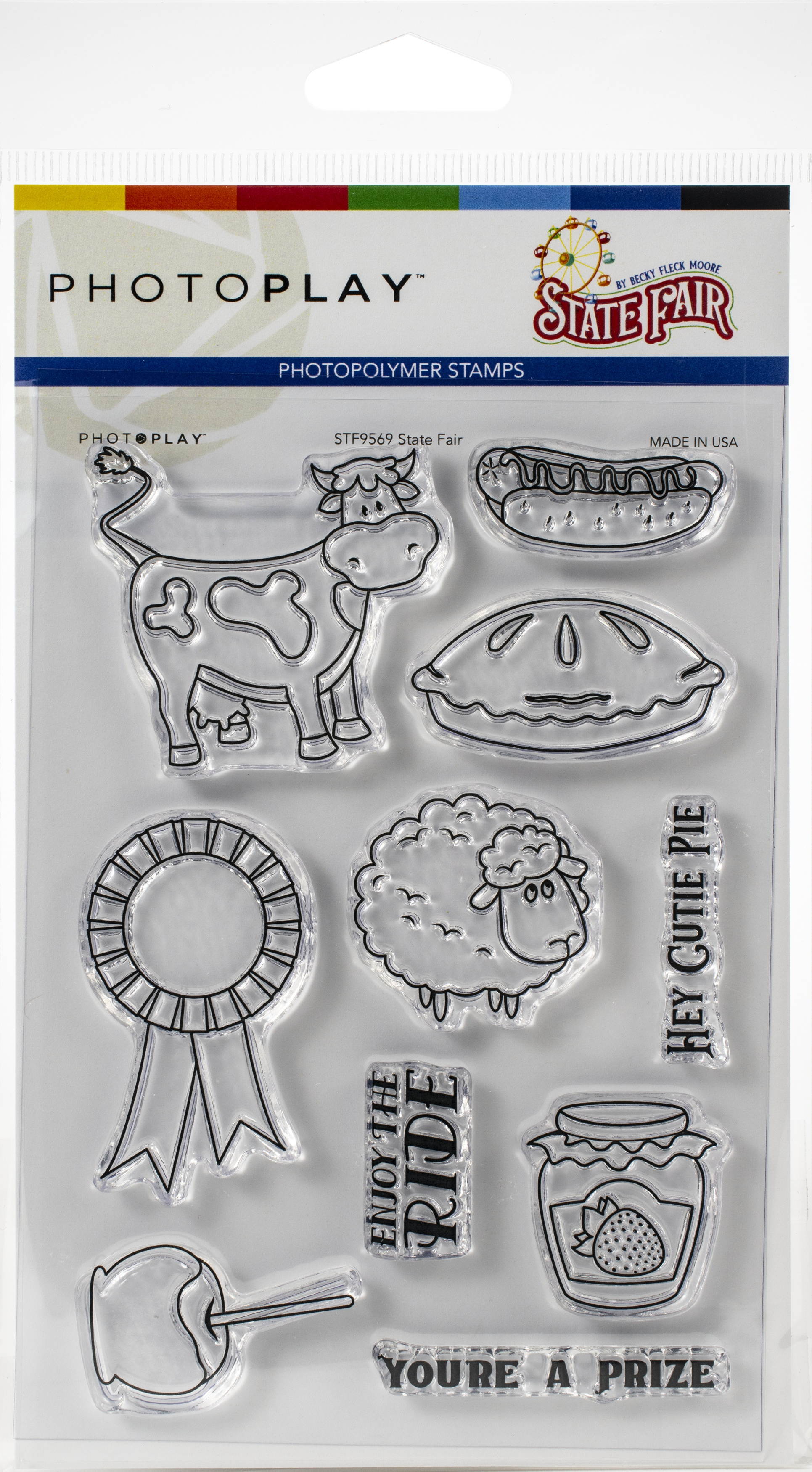 PhotoPlay Photopolymer Stamp-State Fair