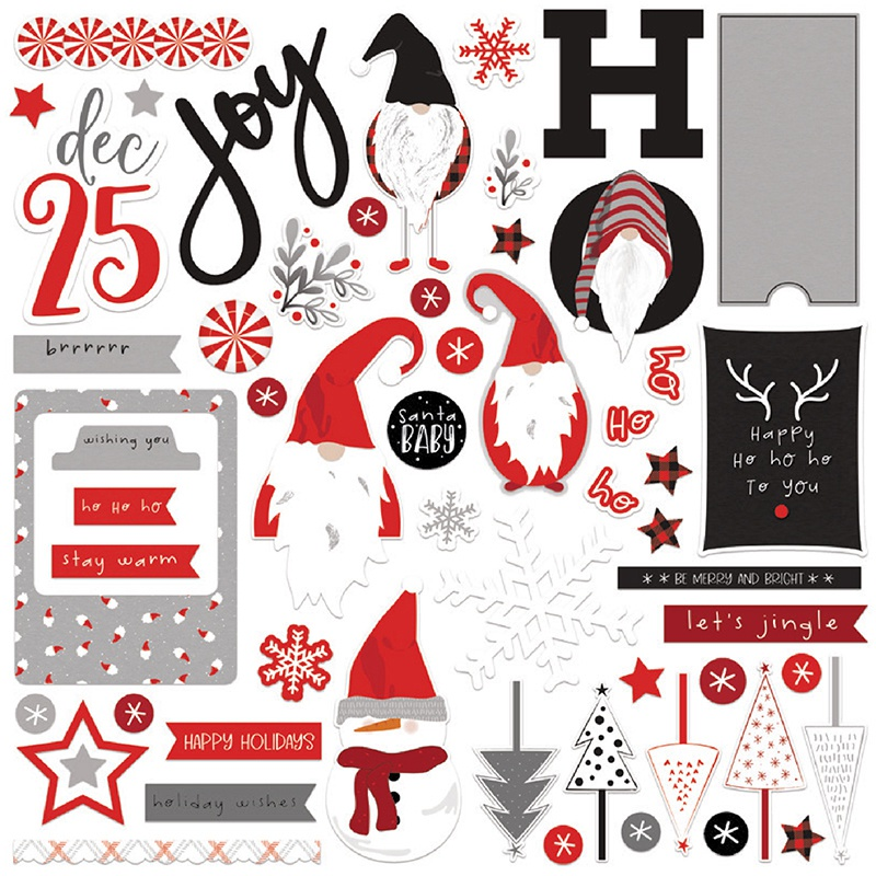 PhotoPlay Collection Card Kit Stickers-Kringle & Co
