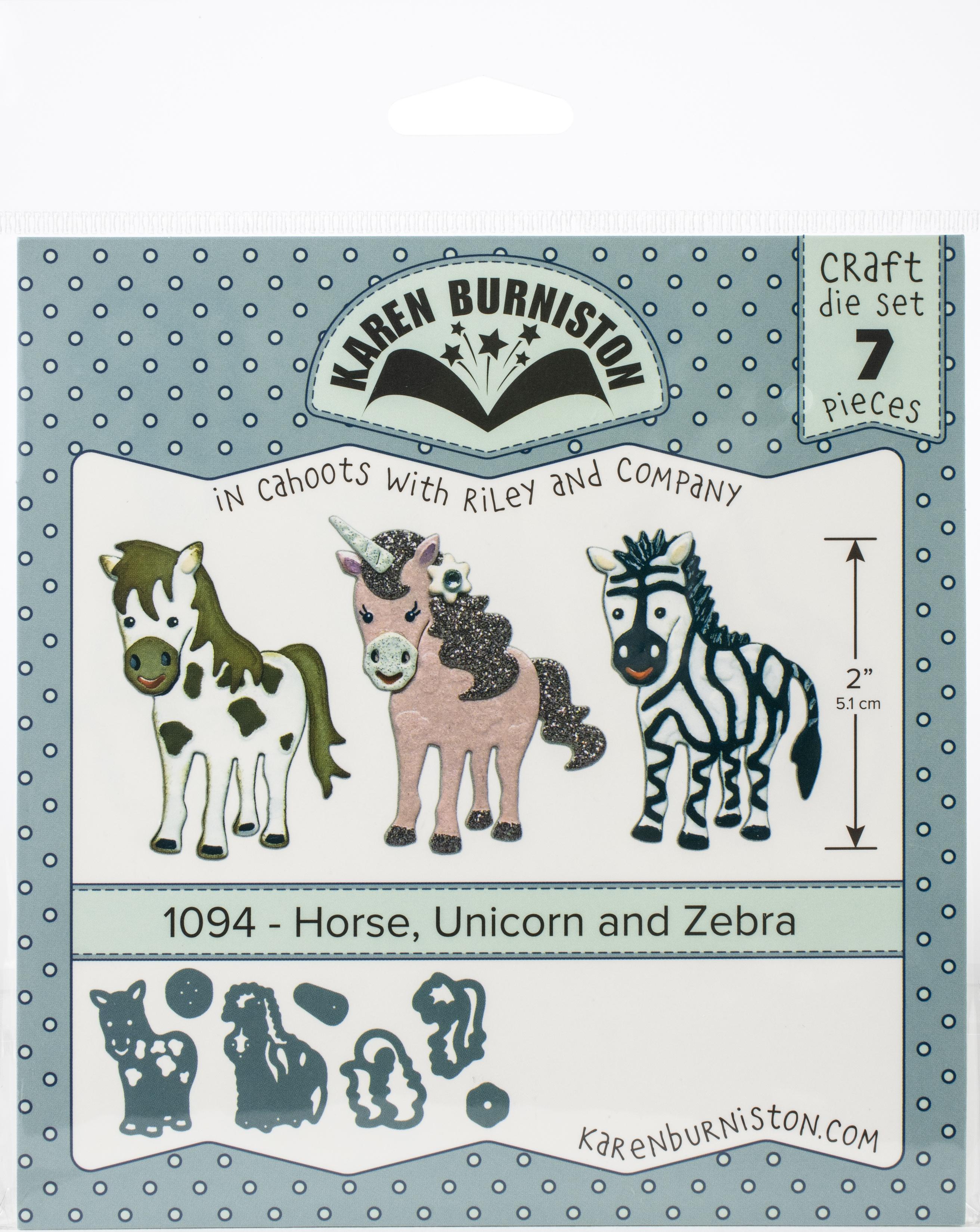 horse, unicorn & zebra