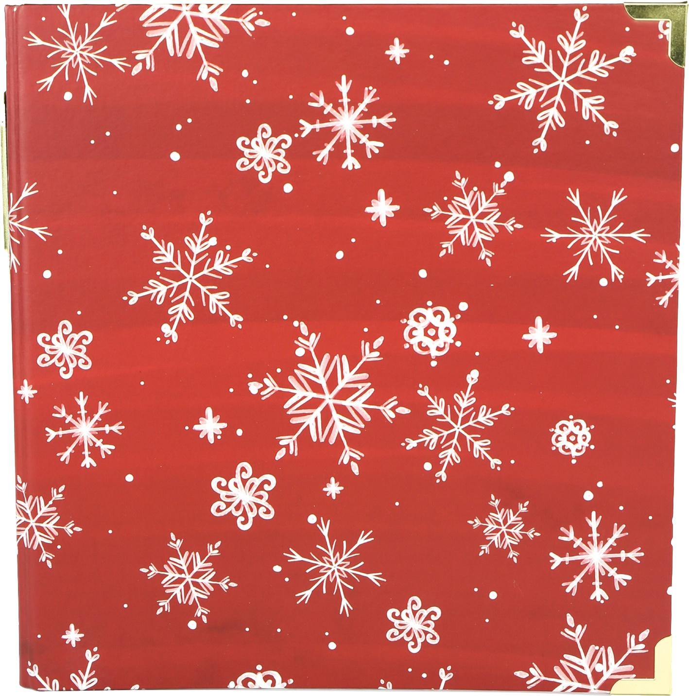 Echo Park 2-Ring Album 6X8-Red Snowflake