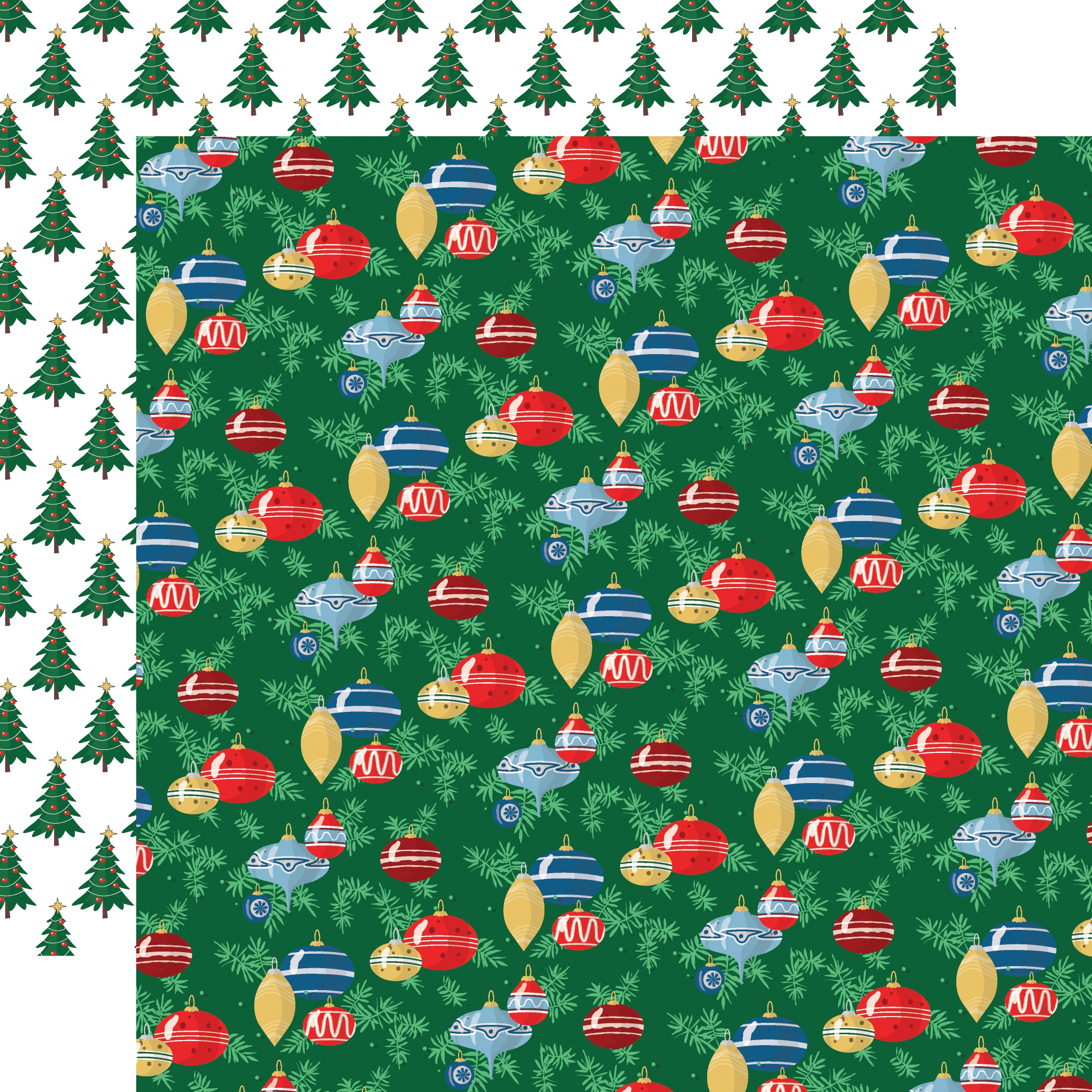 Merry Christmas Double-Sided Cardstock 12X12-Ornaments