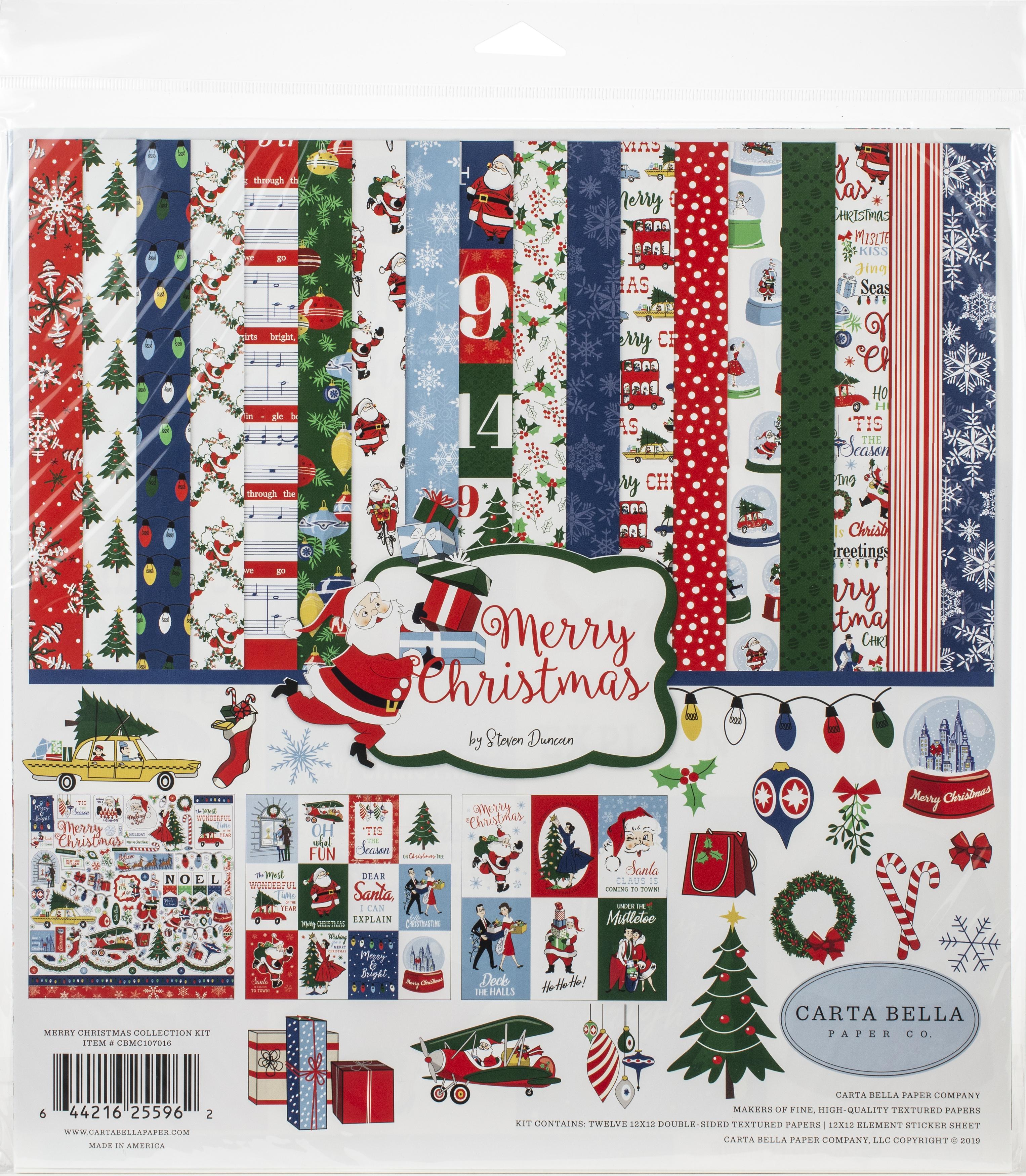 Carta Bella Collection Kit 12X12-Merry Christmas