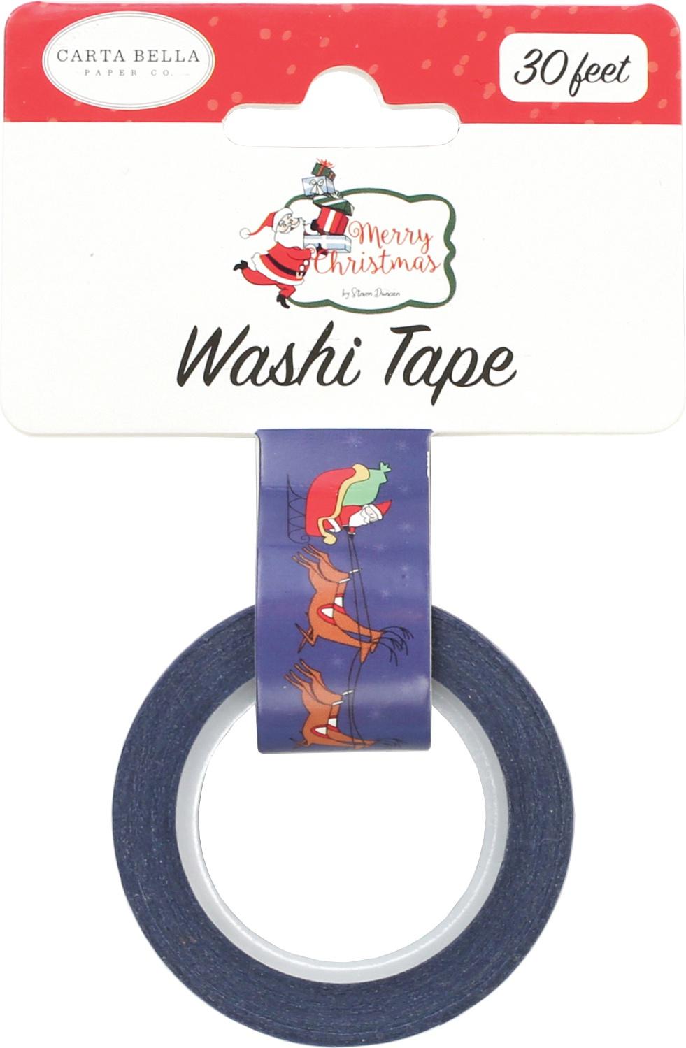 Carta Bella Merry Christmas Decorative Tape 30'-Dash Away