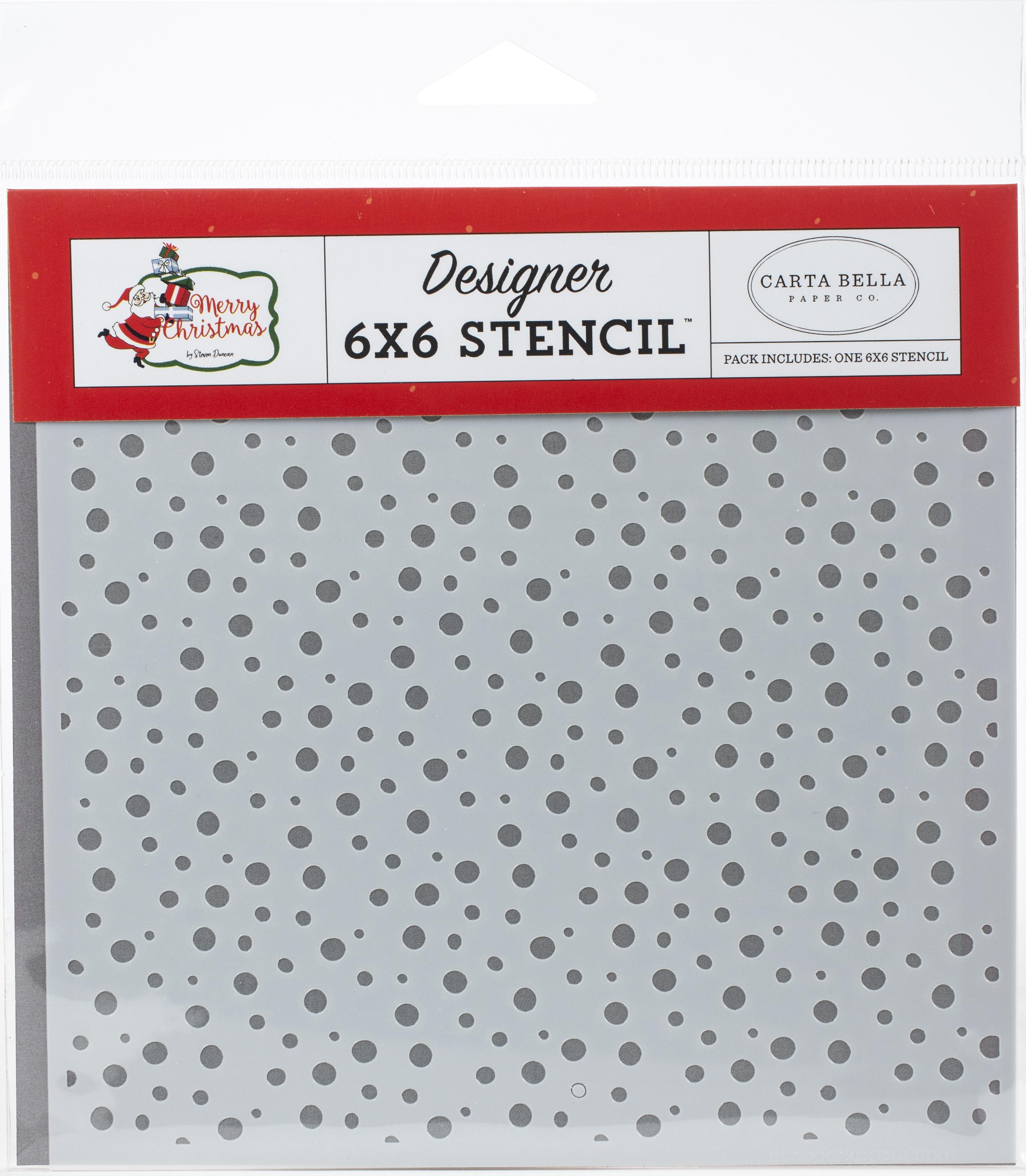 Carta Bella Stencil 6X6-Jolly Snow