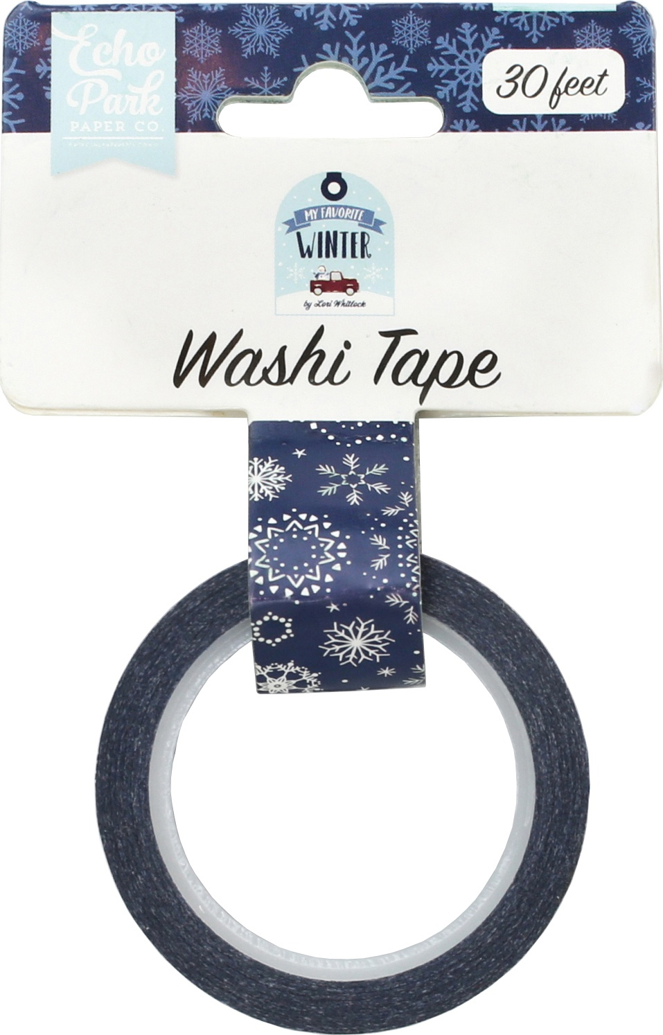 ^Echo Park - Washi Tape - Frosted Snowflakes
