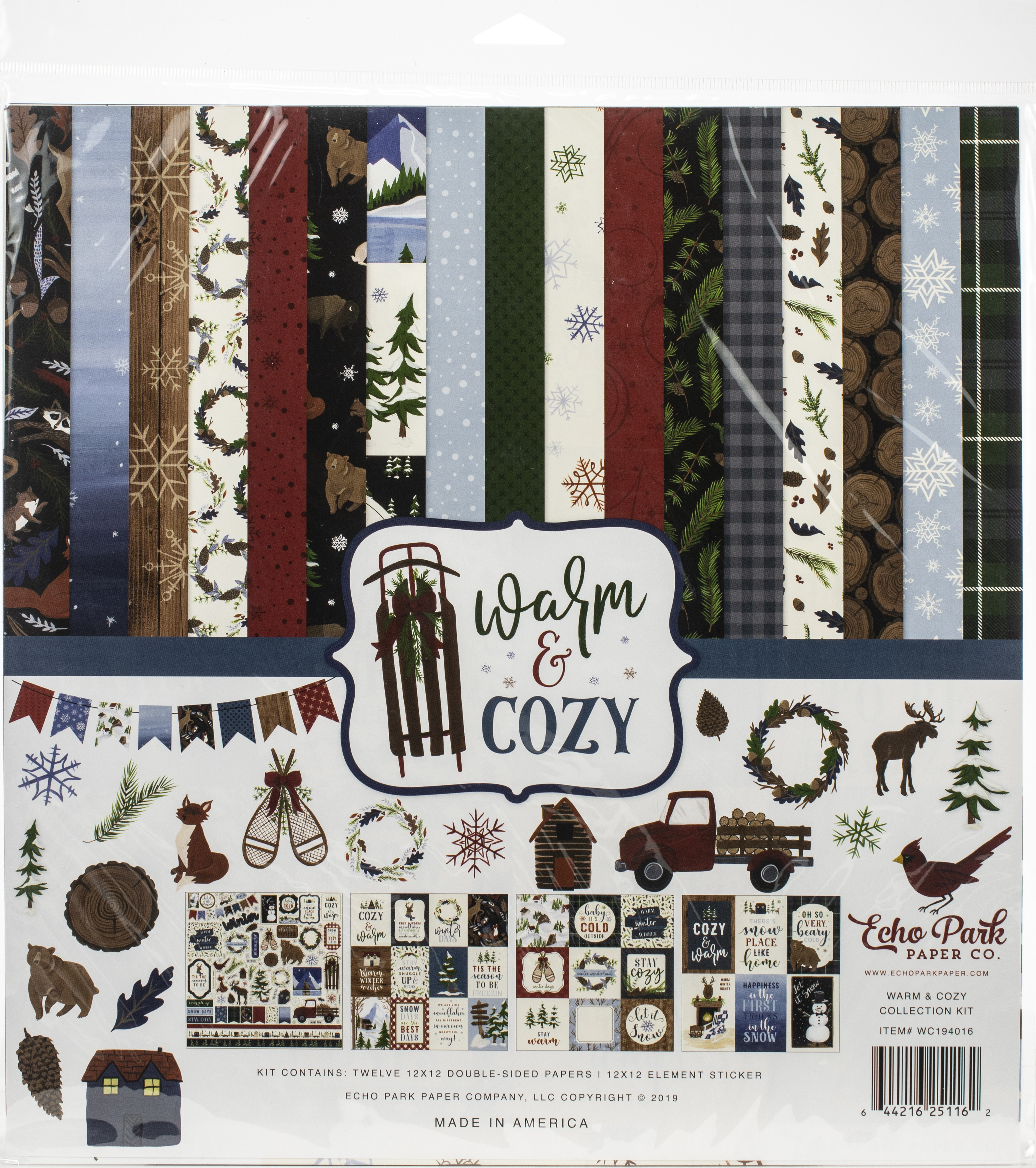 Echo Park Collection Kit 12X12-Warm & Cozy