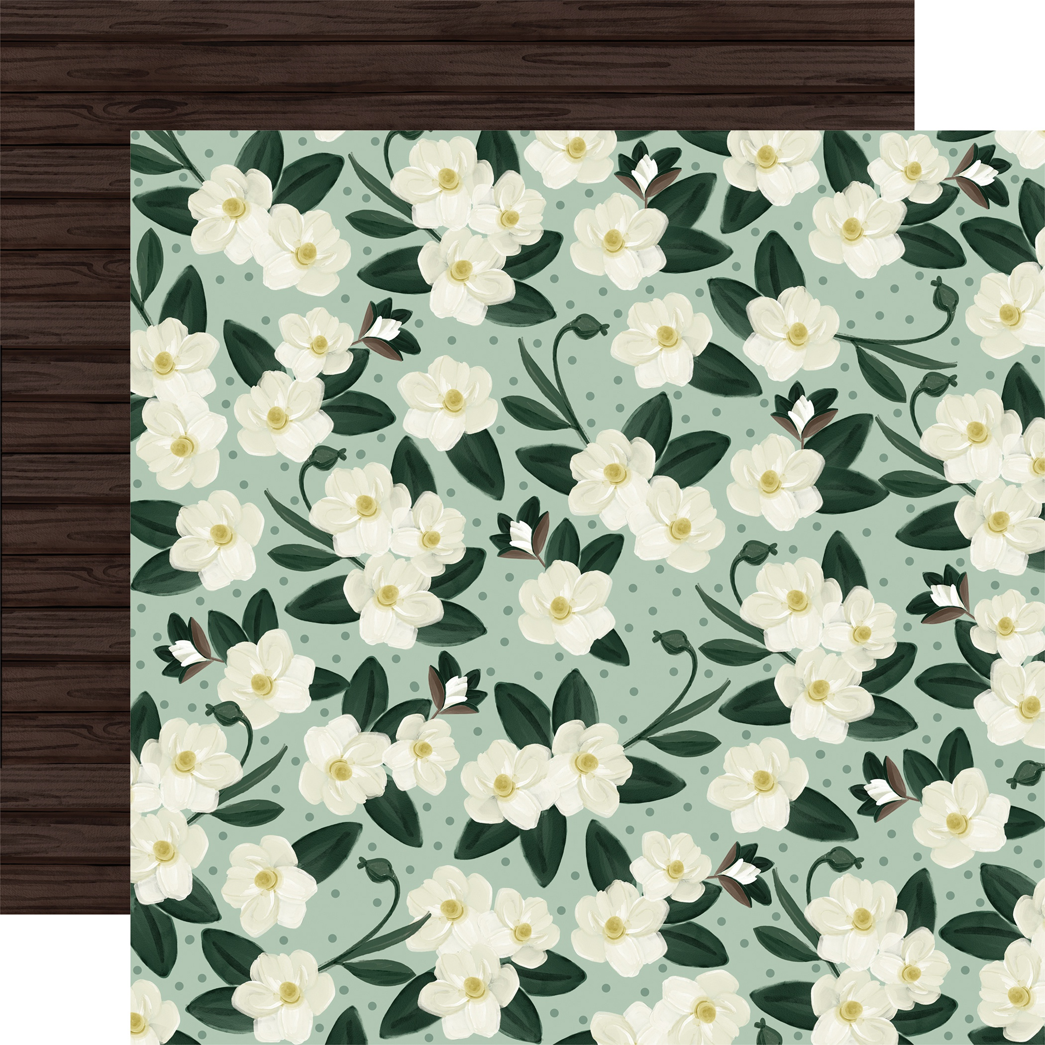 Home Again Double-Sided Cardstock 12X12-Magnolias