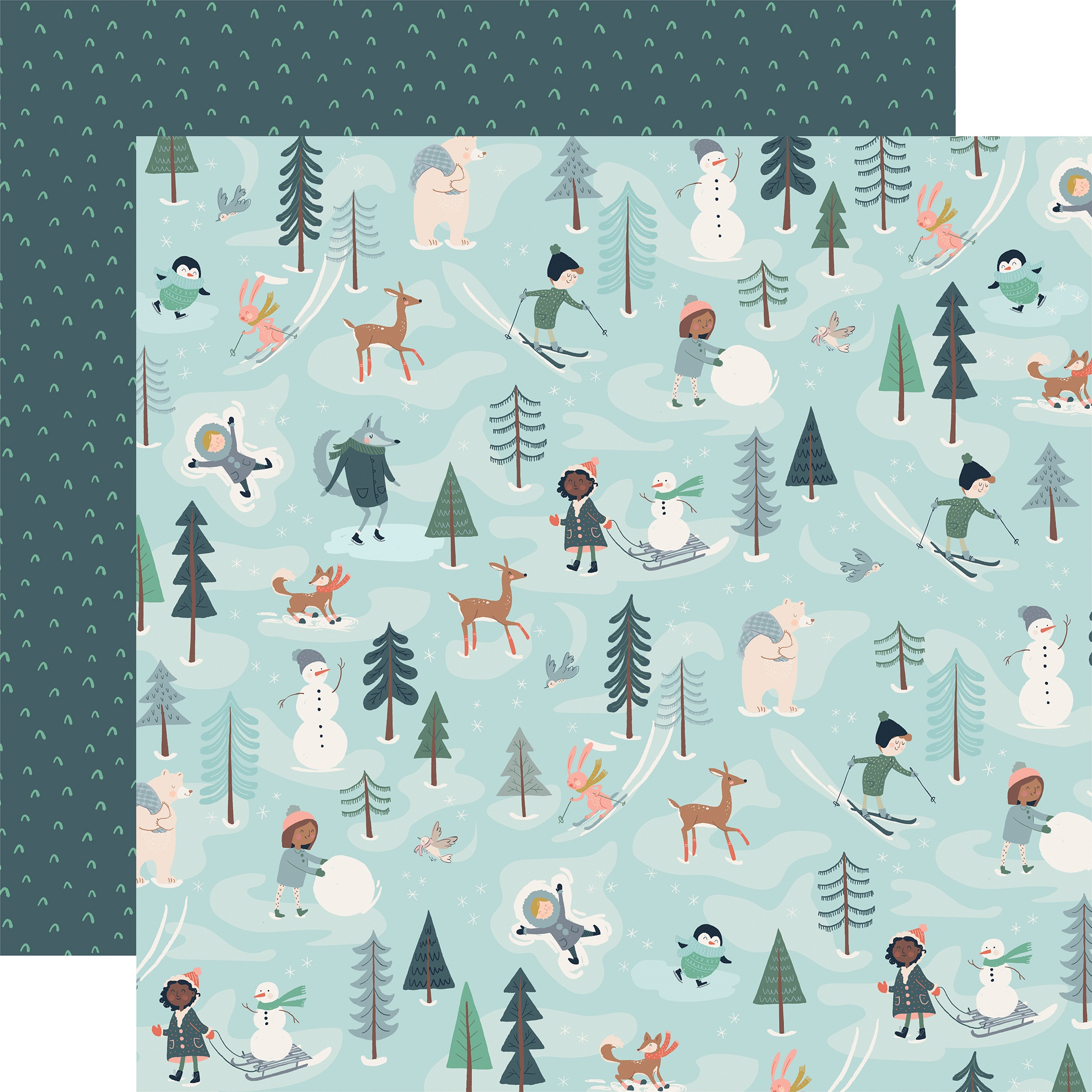 Snow Much Fun Double-Sided Cardstock 12X12-Fun With Friends