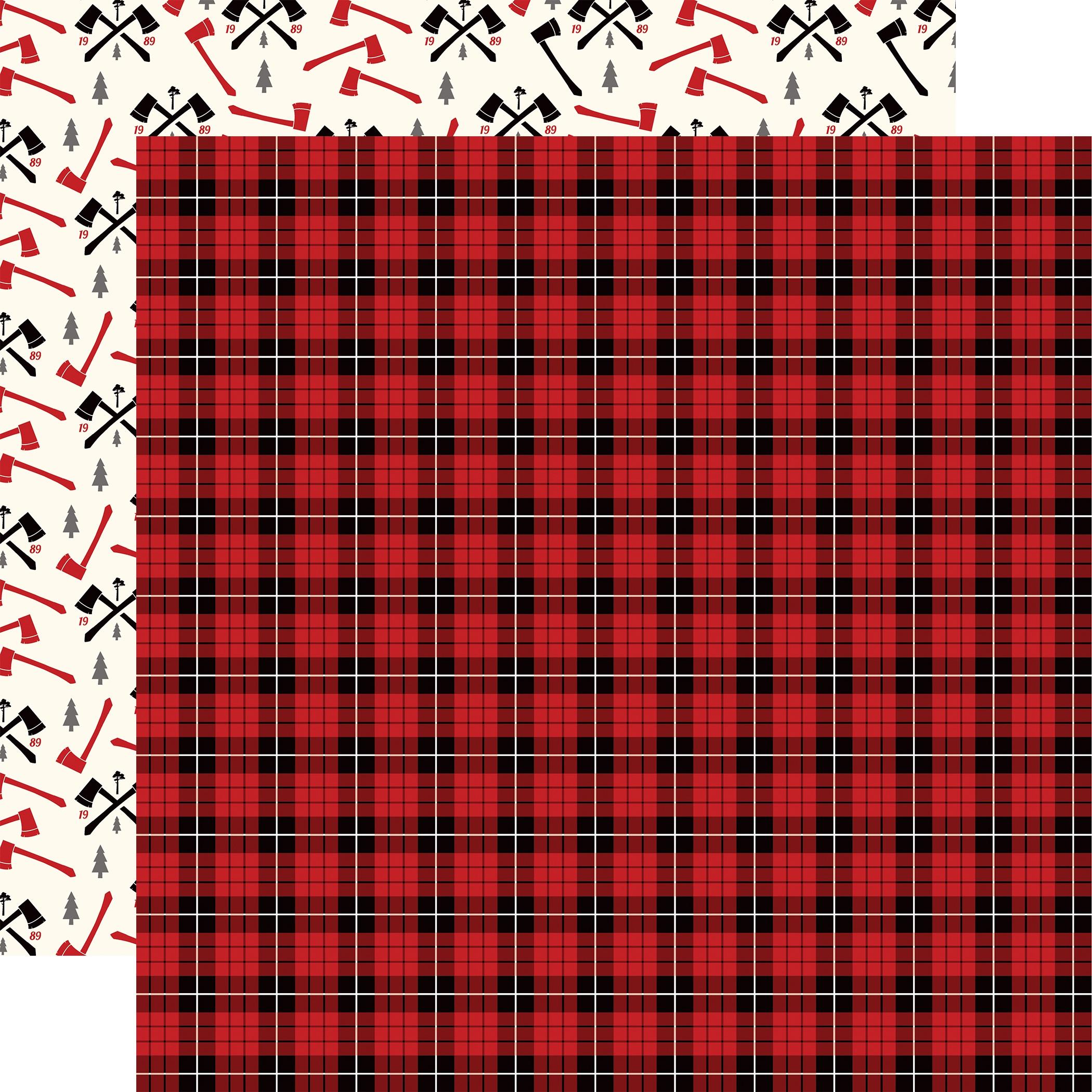 Little Lumberjack Double-Sided Cardstock 12X12-Lumberjack Plaid